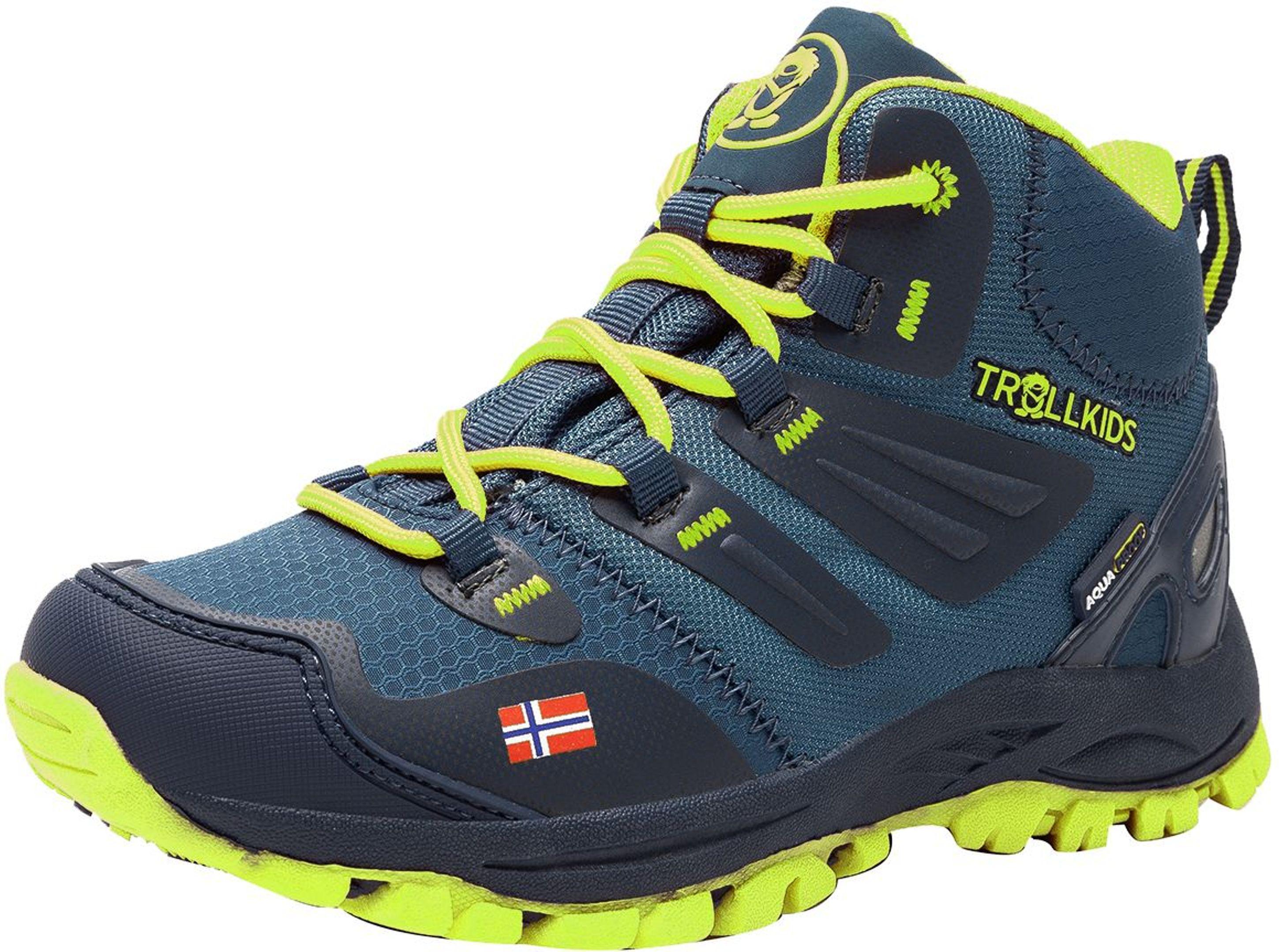 Trollkids Rondane Hiker Mid Navy/Lime