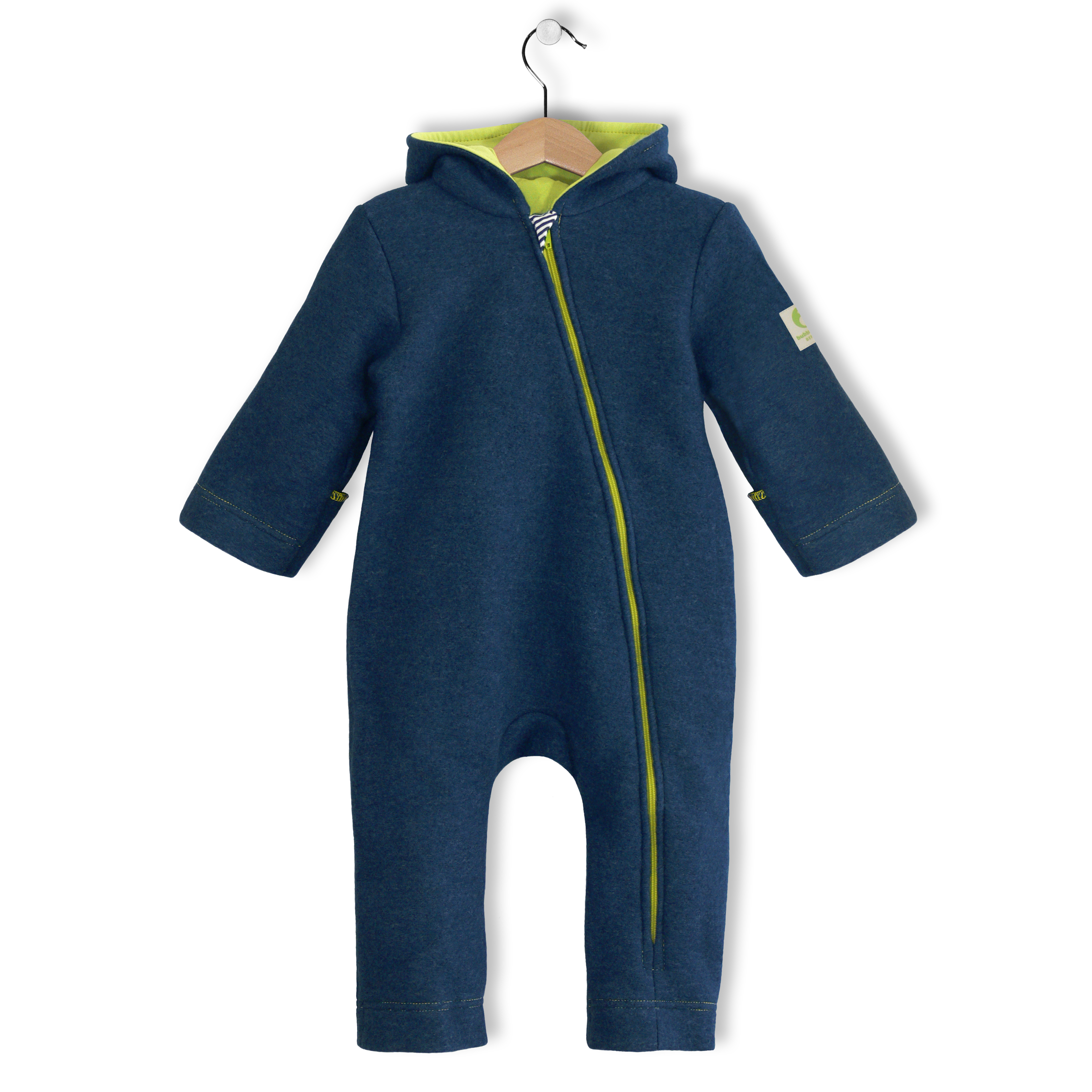 bubble.kid Winteroverall ANU Tec-Wolle marine
