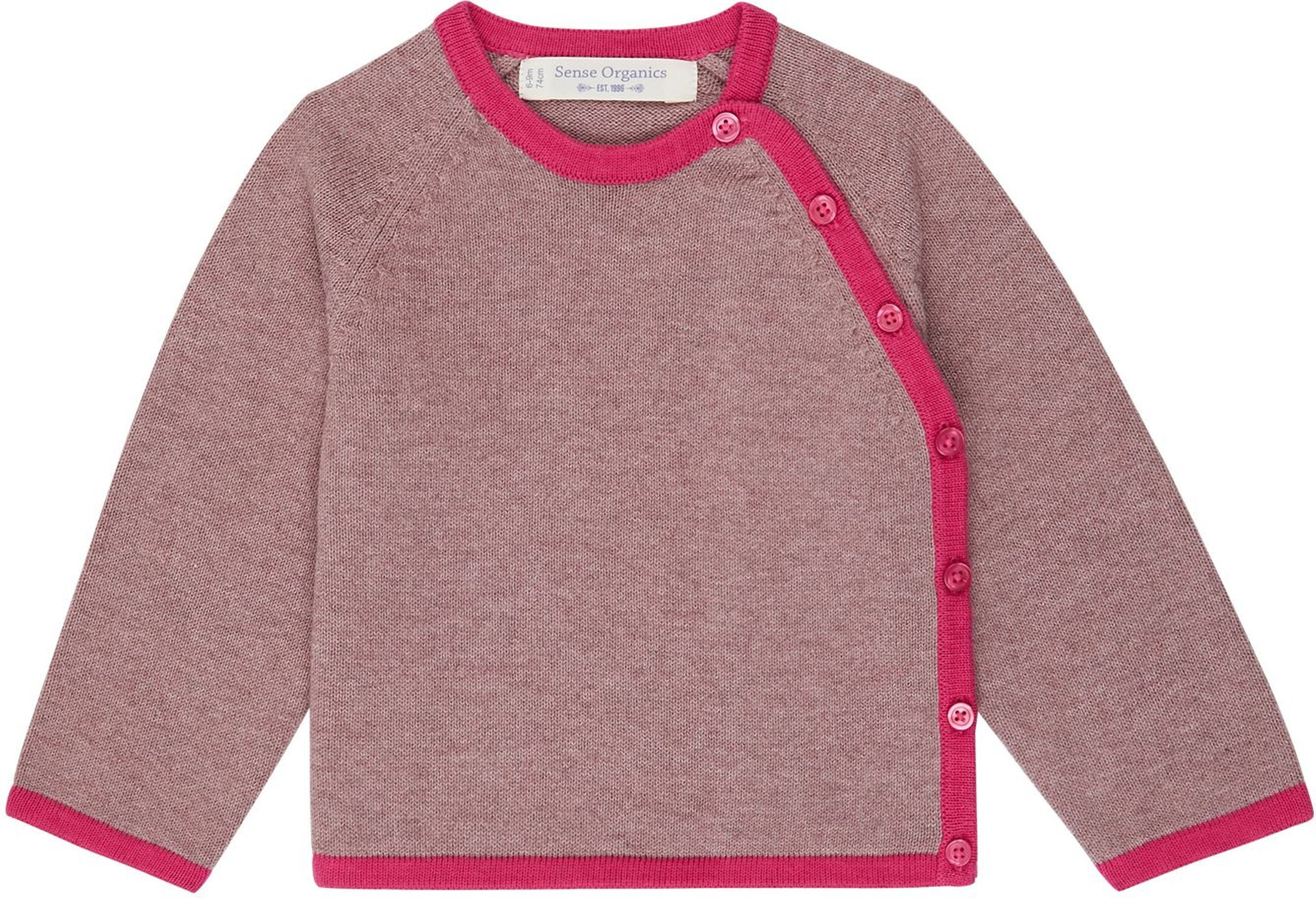 Sense Organic P. PICASSO Baby Knitted Wrap Jacket pink