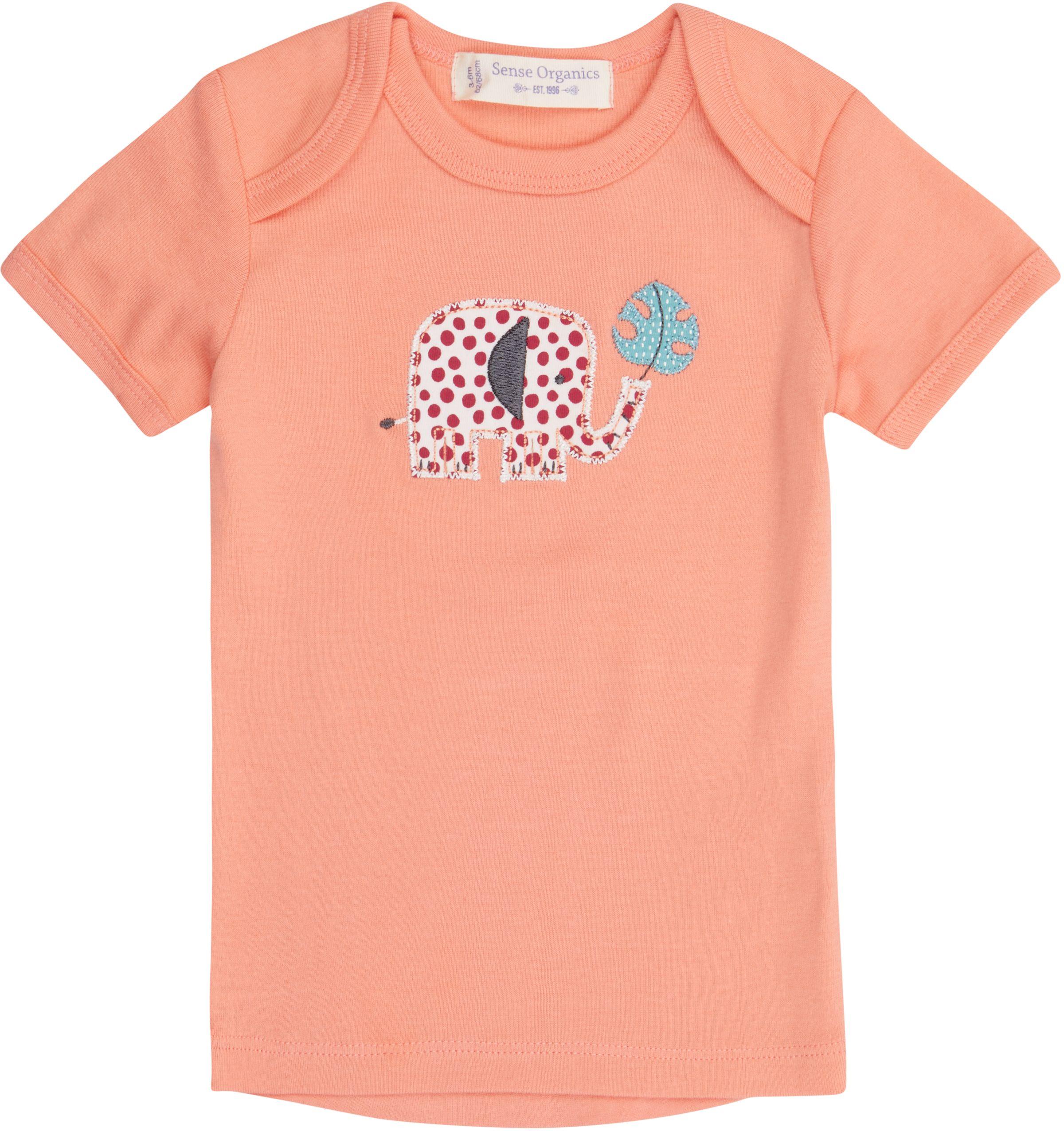 Sense Organic TILLY  RETRO Baby Shirt Kurzarm Coral