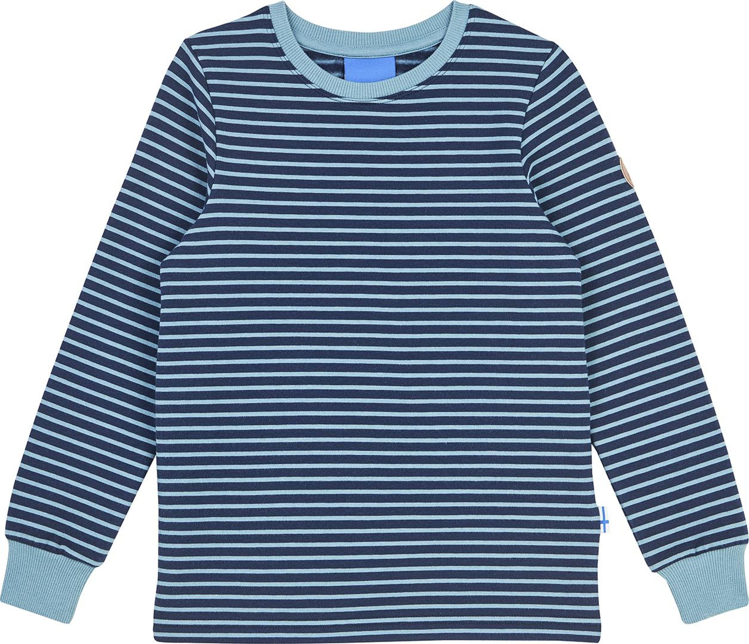 Finkid Langarmshirt RIVI Navy/Smoke Blue