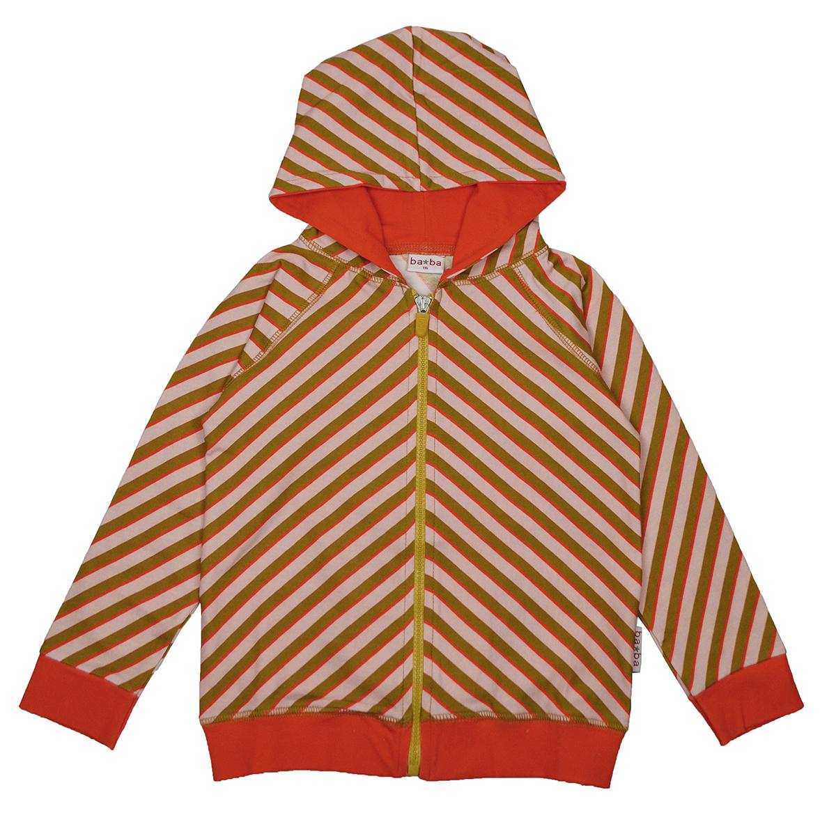 Baba Kidswear Kapuzenjacke Diagonal pink