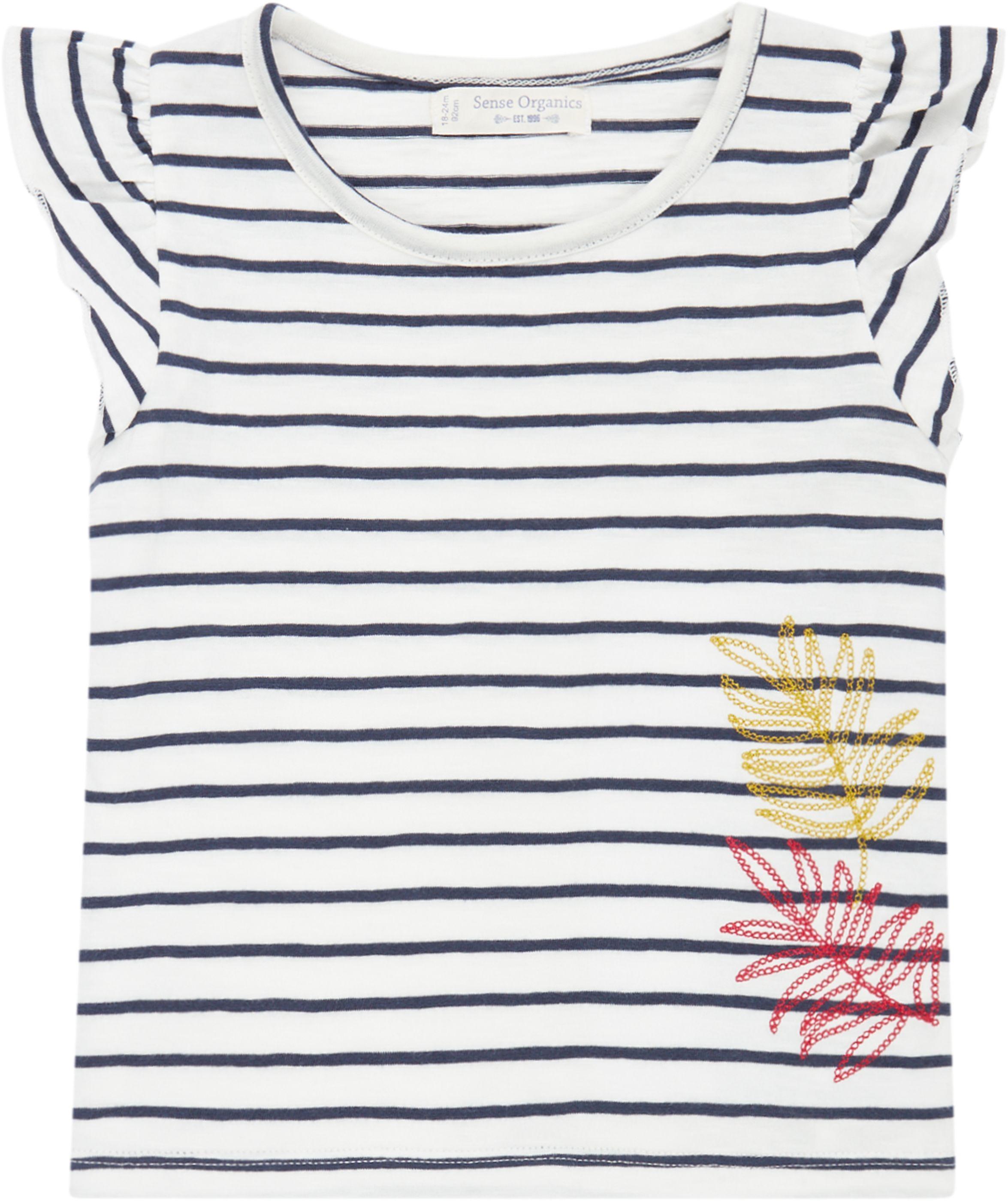 Sense Organic NANA Butterfly Shirt Kurzarm Navy Stripes