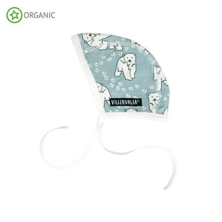 Villervalla Babymütze Eisbär CEMENT