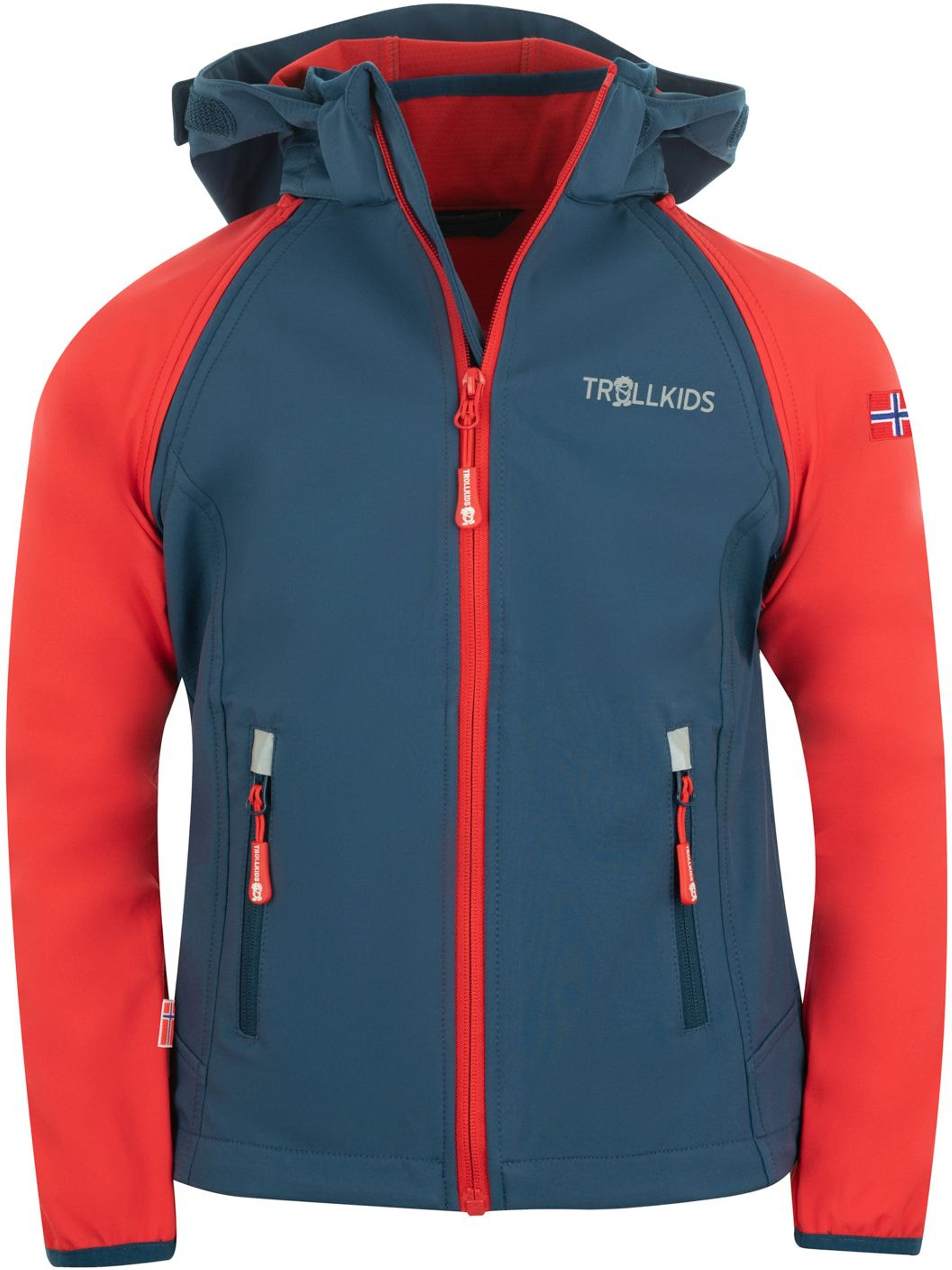 Trollkids Rondane Zip Off Jacket XT bright red/mystic blue
