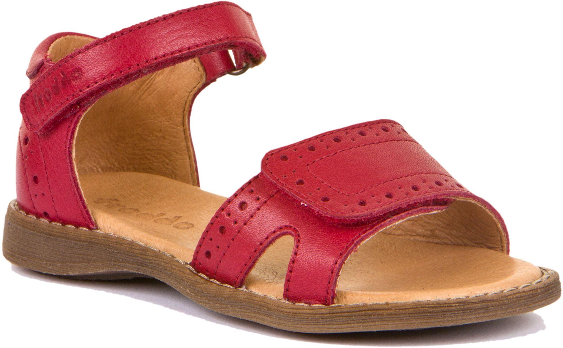 Froddo Mädchen Sandale Closed Heel Rot