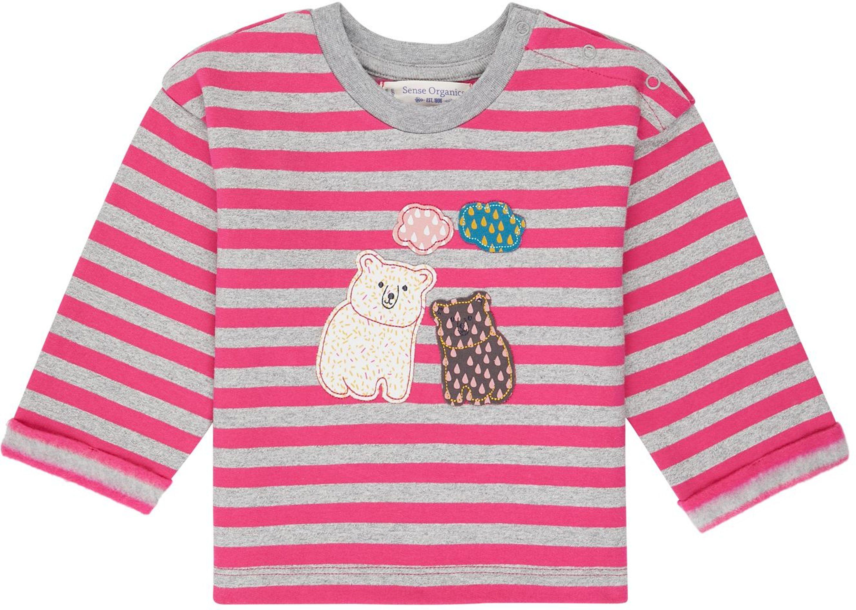 Sense Organic NOLANI Baby Sweater pink/polar bear