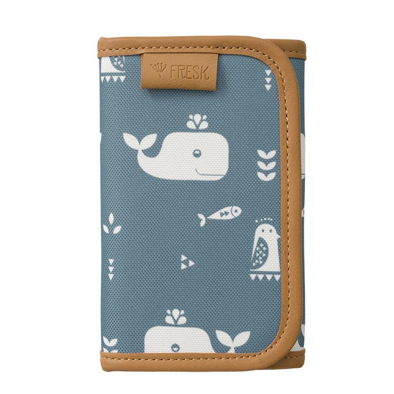 Fresk Geldbörse Billfold Whale blue