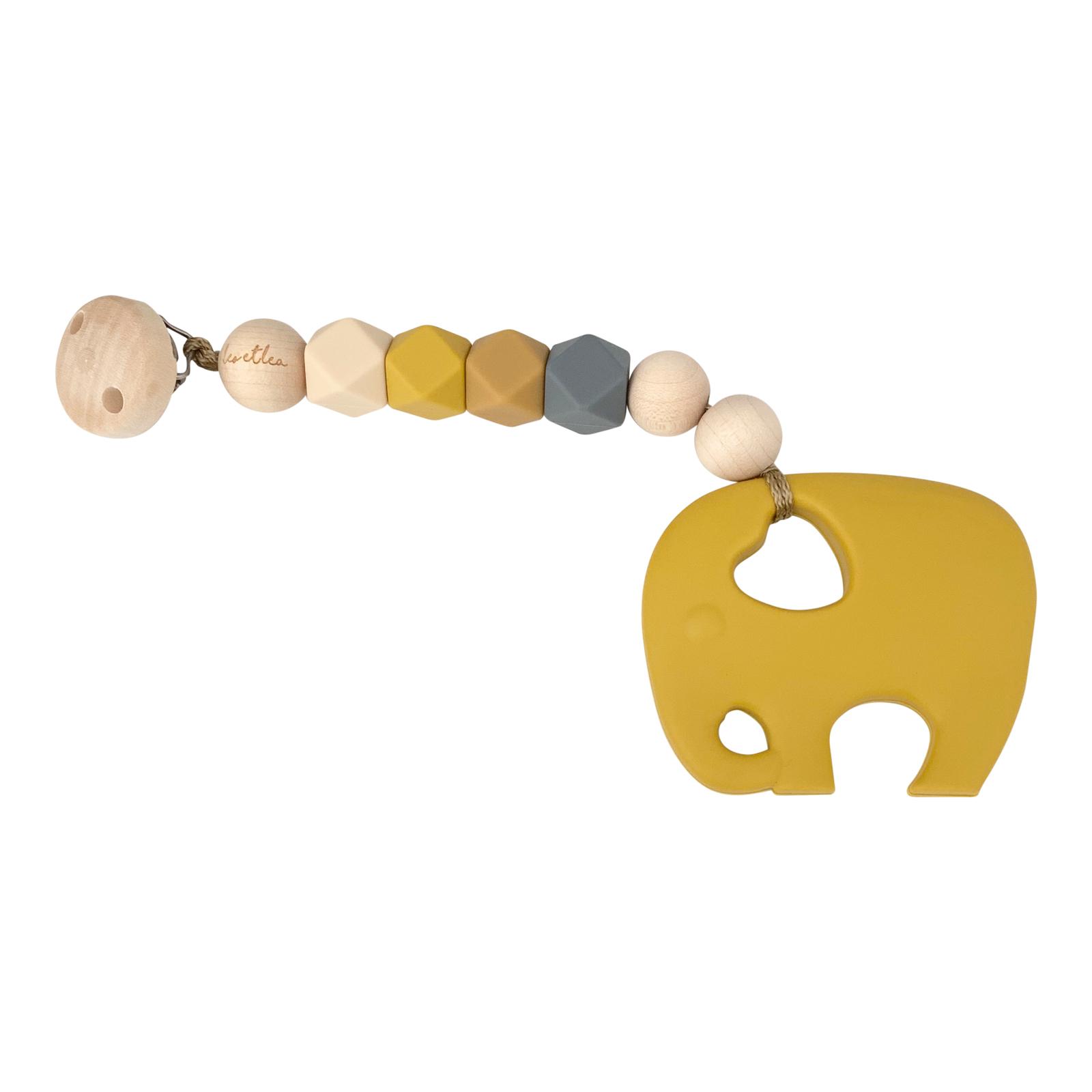 leo et lea Beisskette Elefant mustard