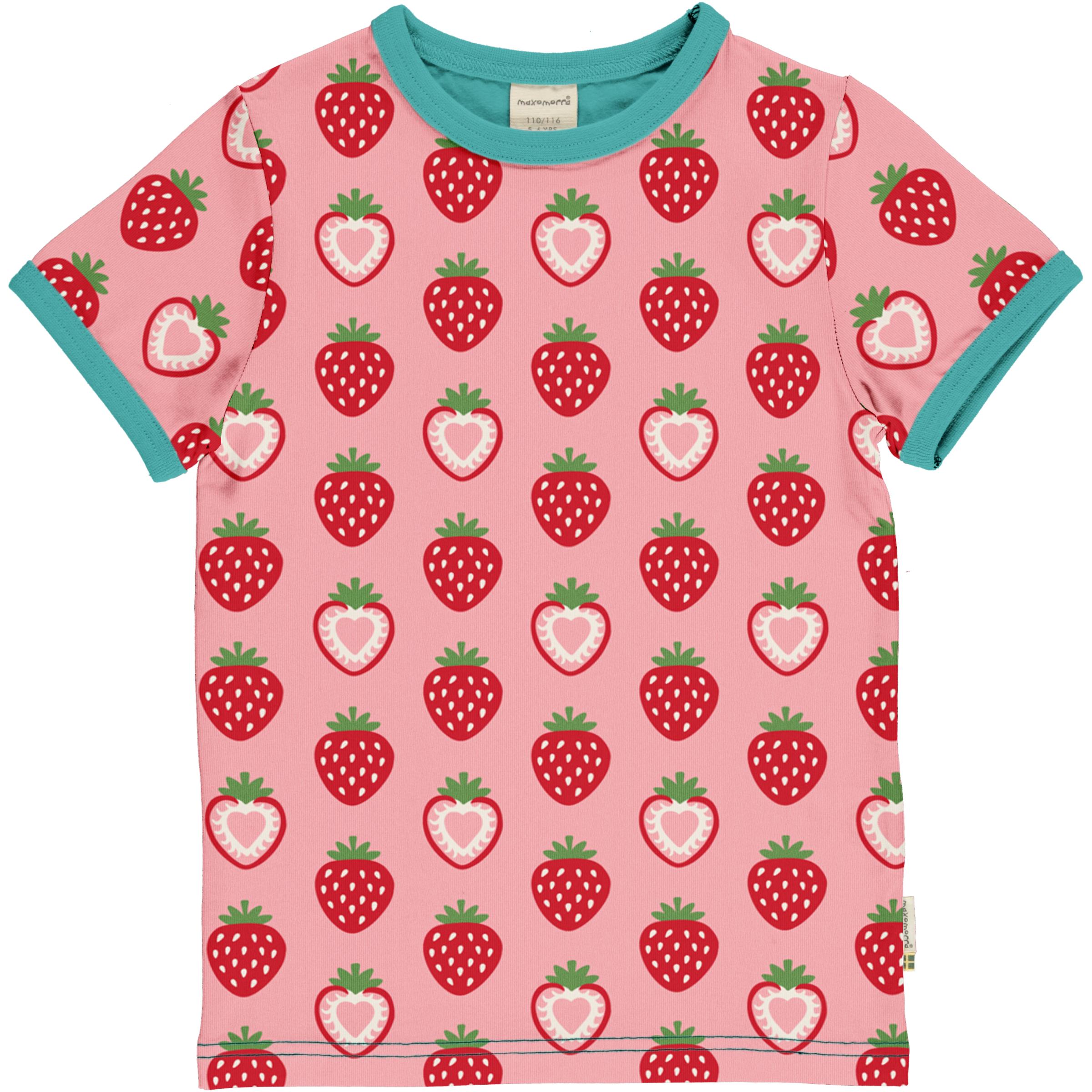 Maxomorra T-Shirt STRAWBERRY 086/092