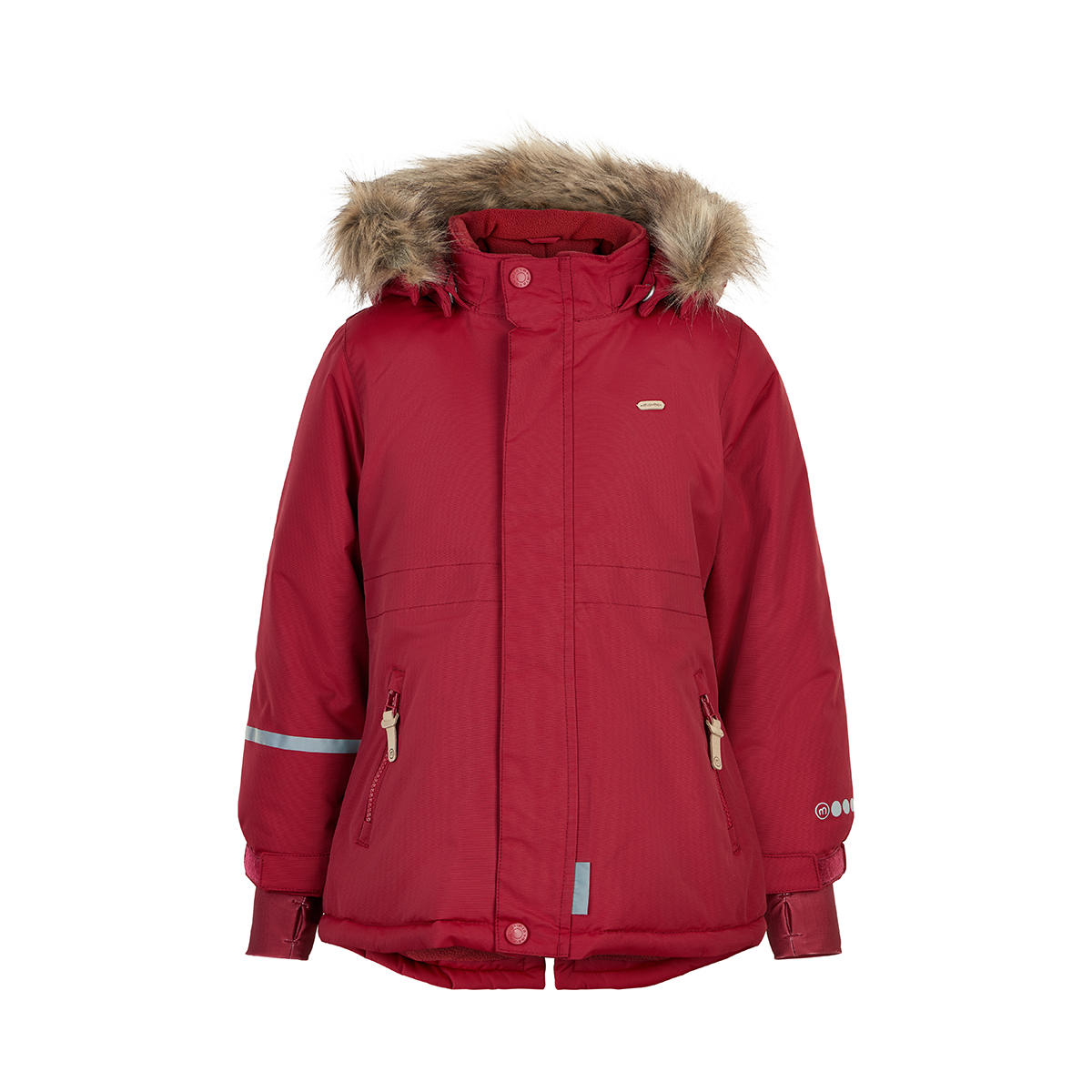 Minymo Girl Winterjacke Tussor Solid Rio Red