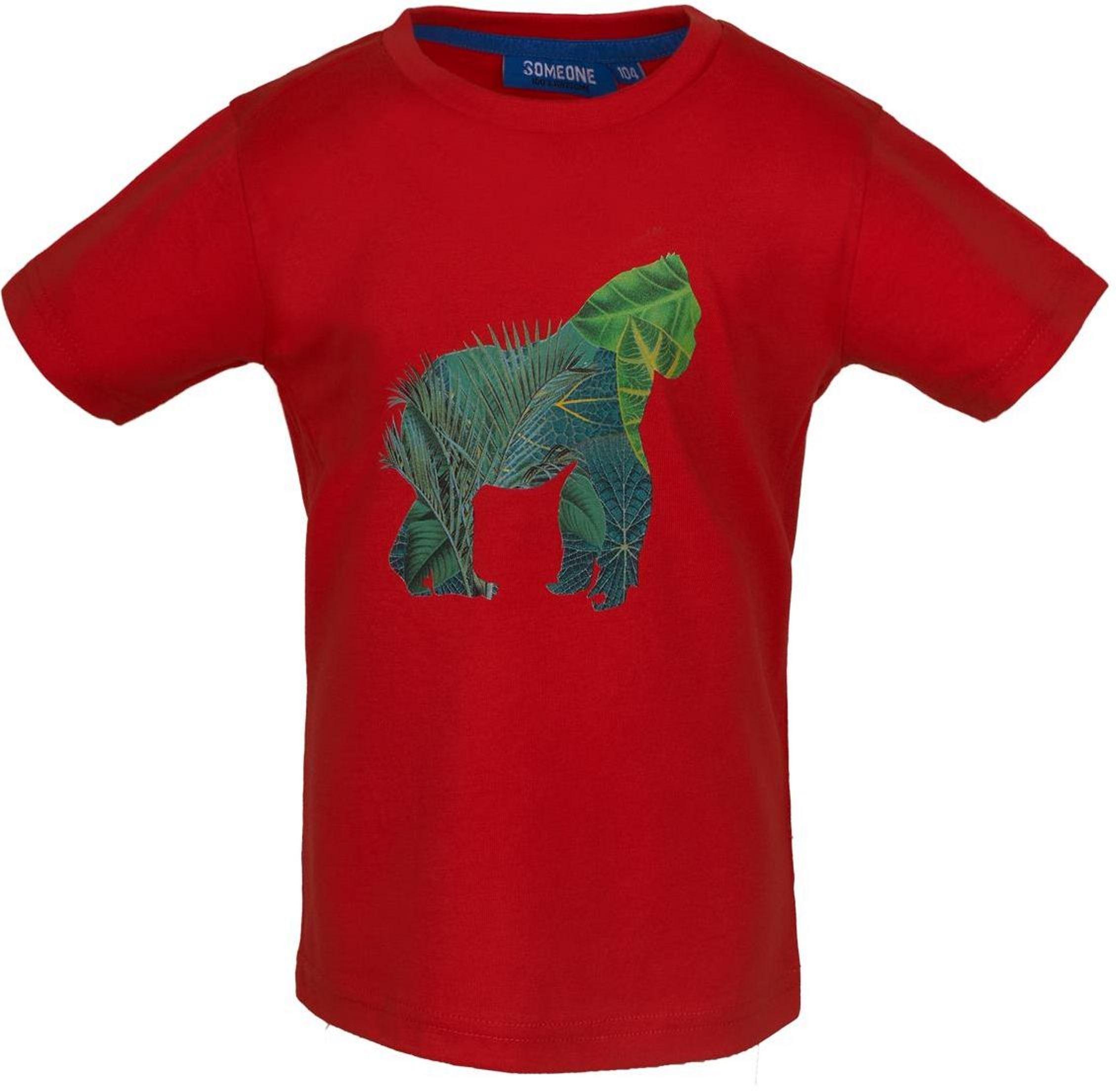 Someone Boy T-Shirt Kenya red