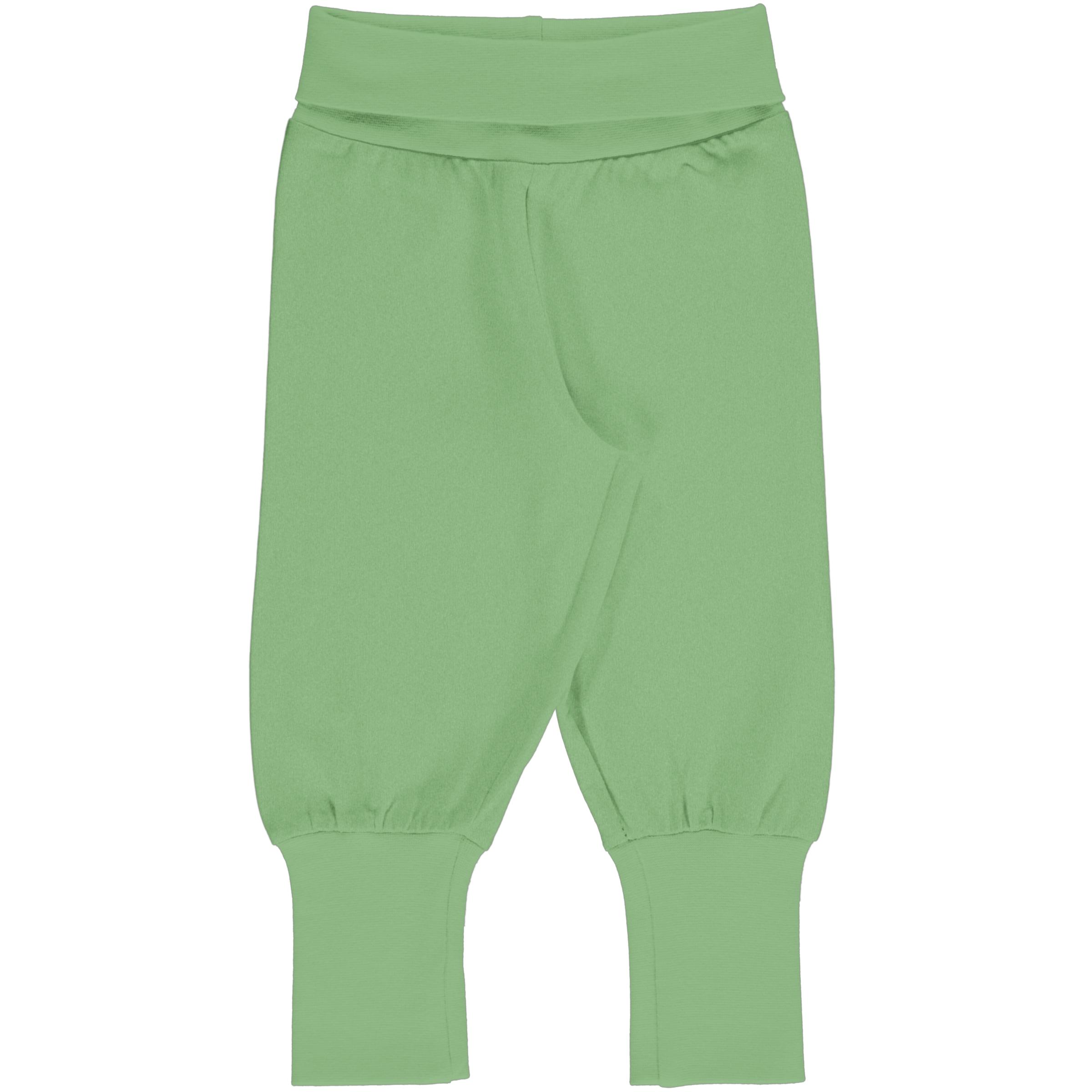 Meyadey by Maxomorra Baby Rib Pants Solid GREENGAGE 74/80