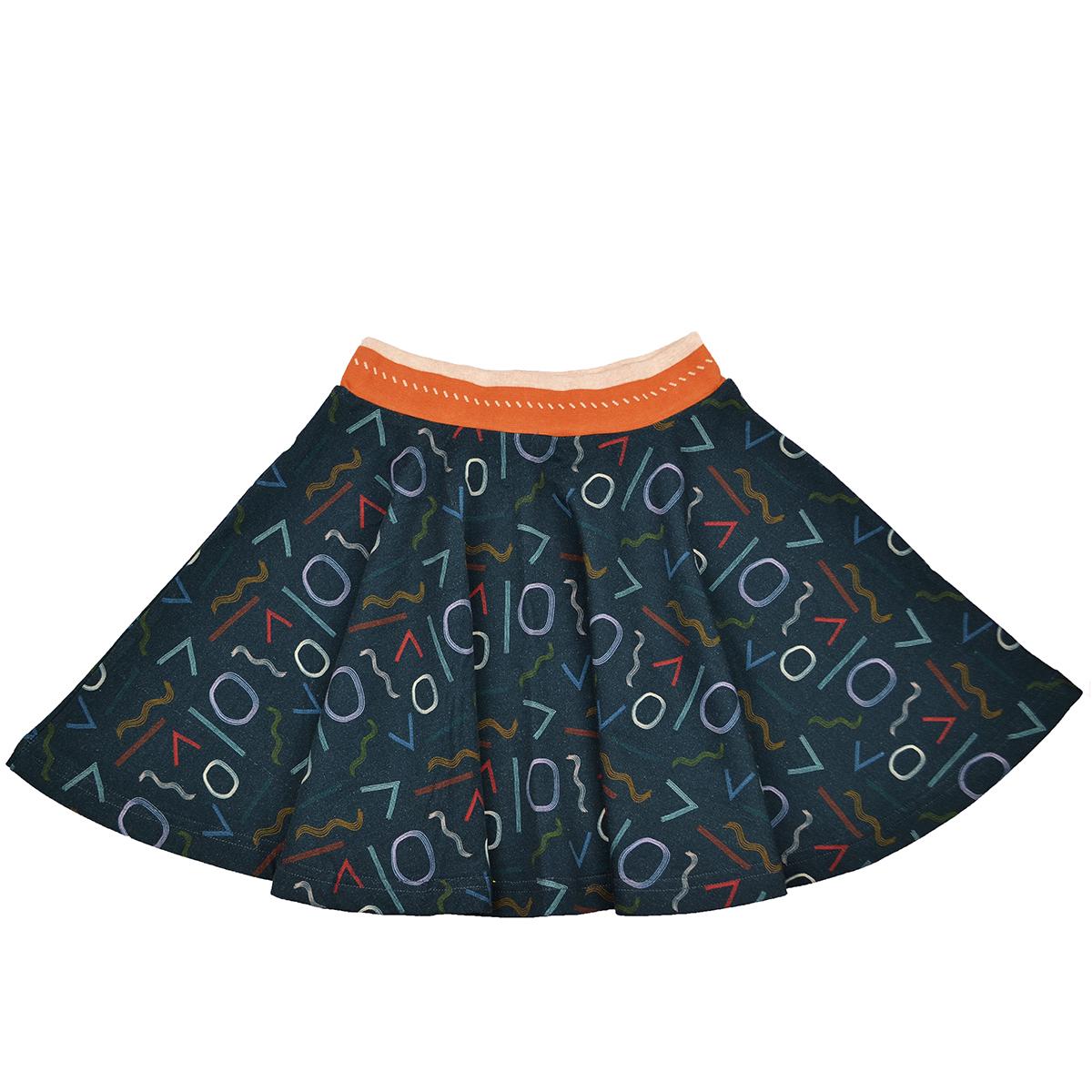 Baba Kidswear Girl Tellerrock Shading Forms