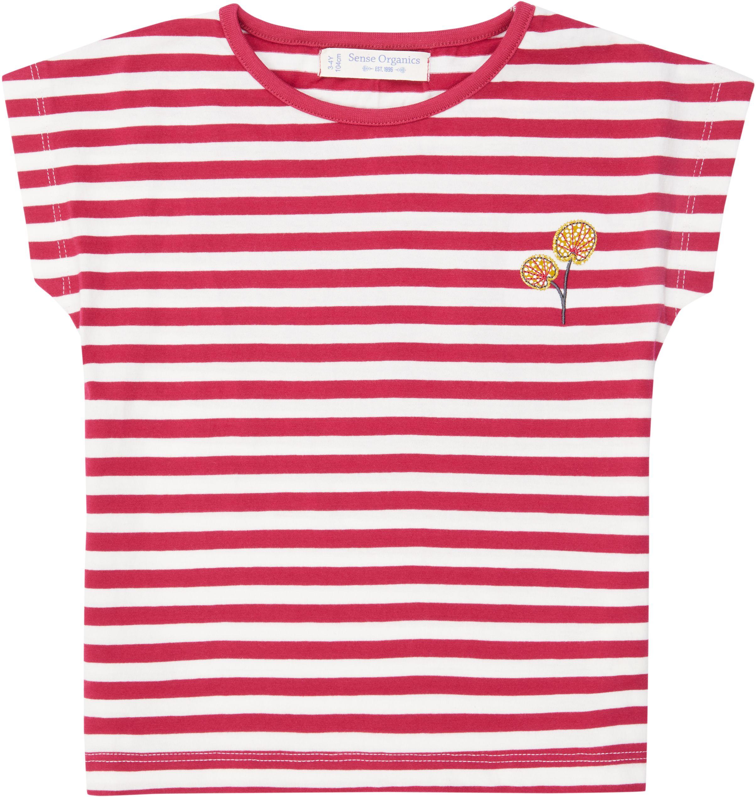 Sense Organic DORA Shirt Kurzarm Pink Stripes