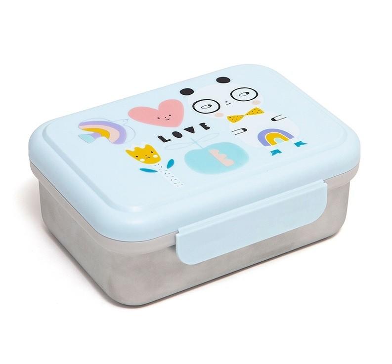 Petit Monkey Lunchbox Edelstahl Panda Love