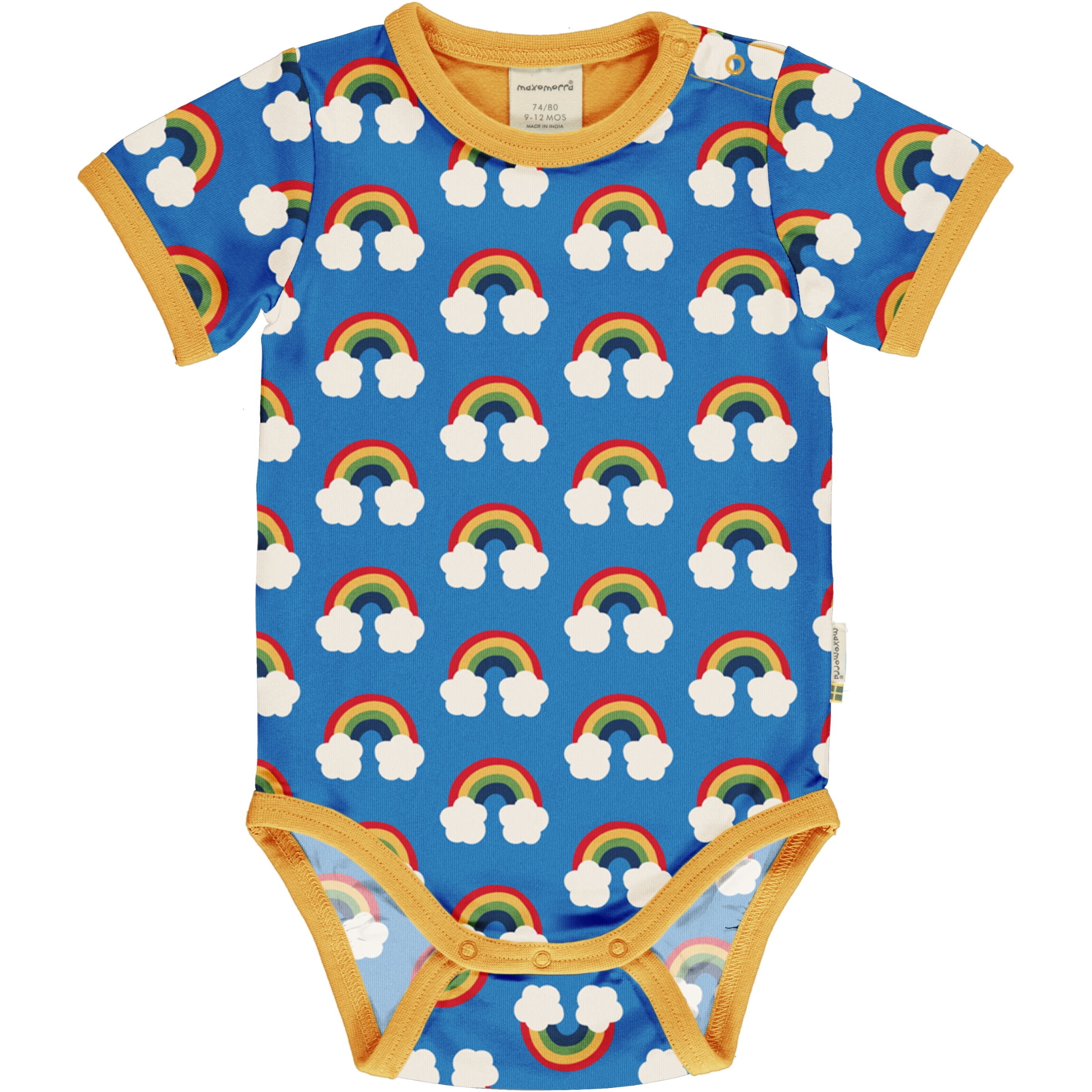 Maxomorra Baby Body kurzarm RAINBOW 62/68