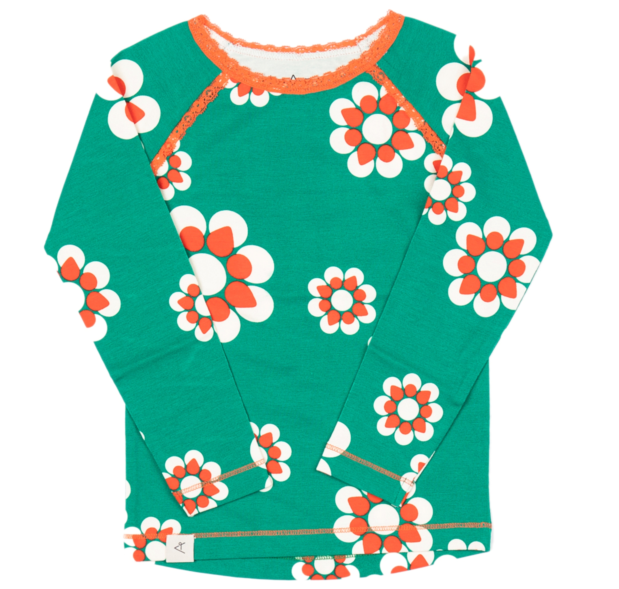 AlbaBaby Girl Langarmshirt Ghita Blouse Pepper Green Flower