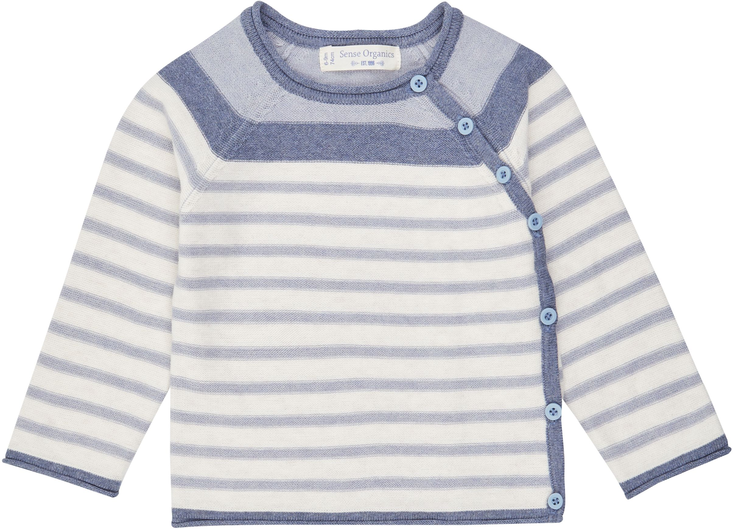 Sense Organic P. PICASSO Knitted Baby Wrap Jacket Icegrey