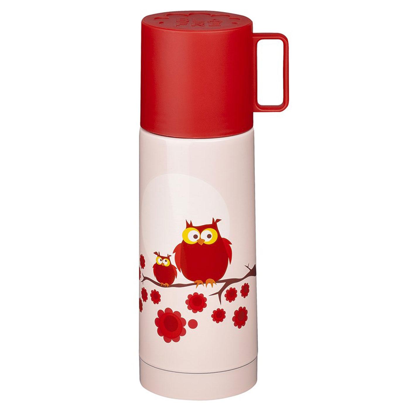 Blafre Design Thermosflasche Eule Rosa
