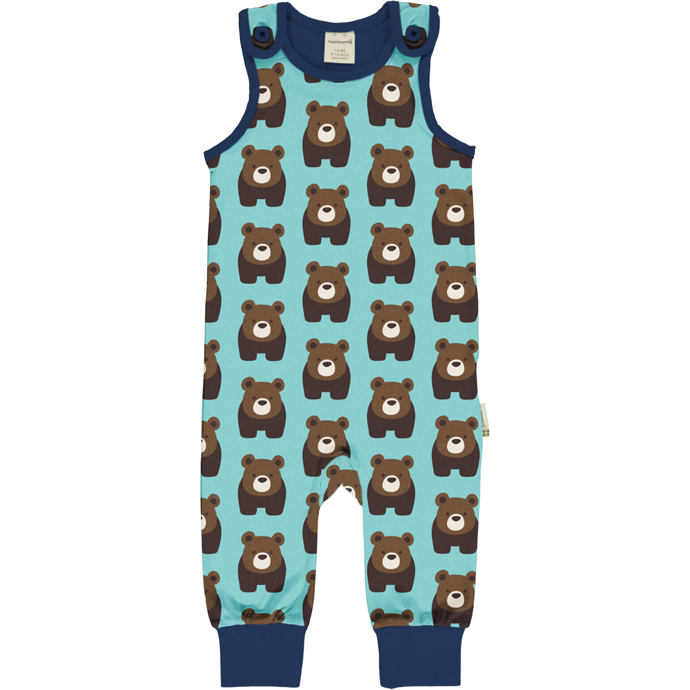 Maxomorra Baby Playsuit BEAR