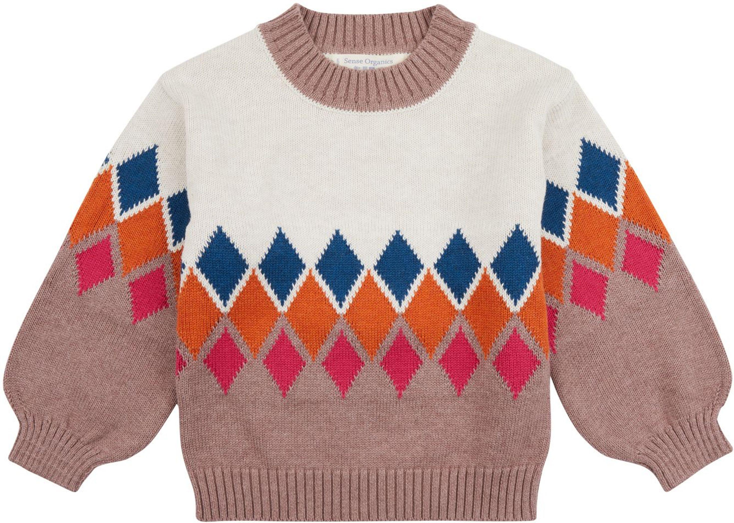 Sense Organic DELIA Pullover white-zigzag