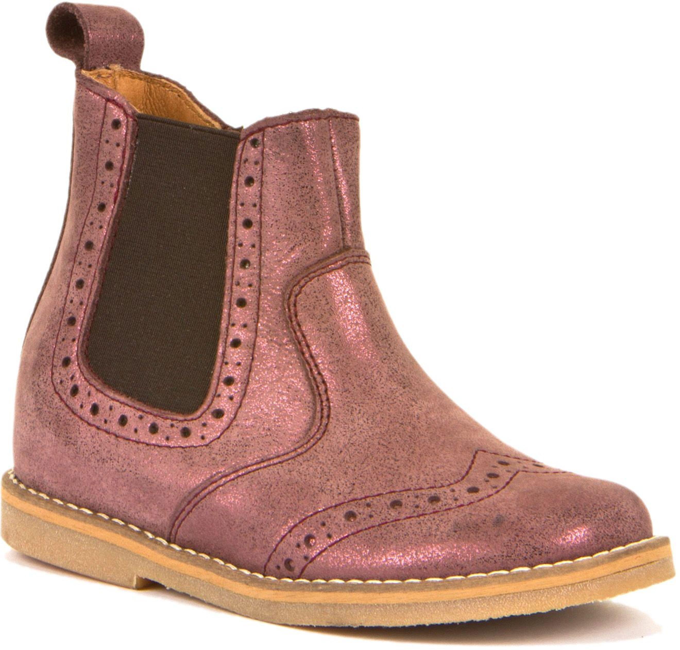Froddo Chelsea Boots Brogue Pink+