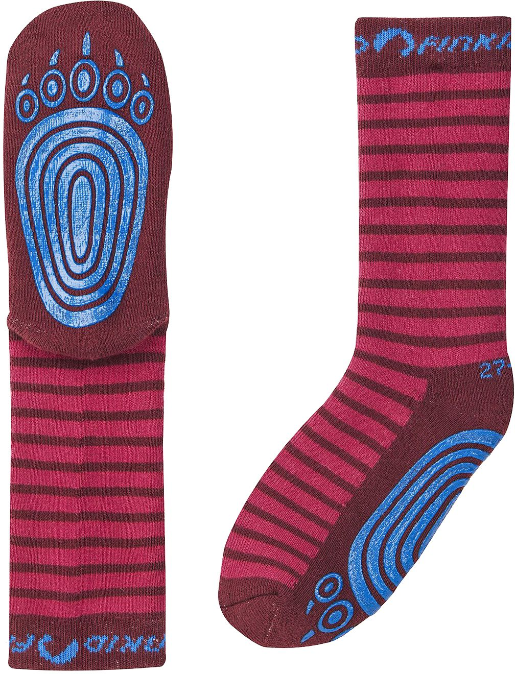 Finkid Stoppersocken TAPSUT persian red/cabernet