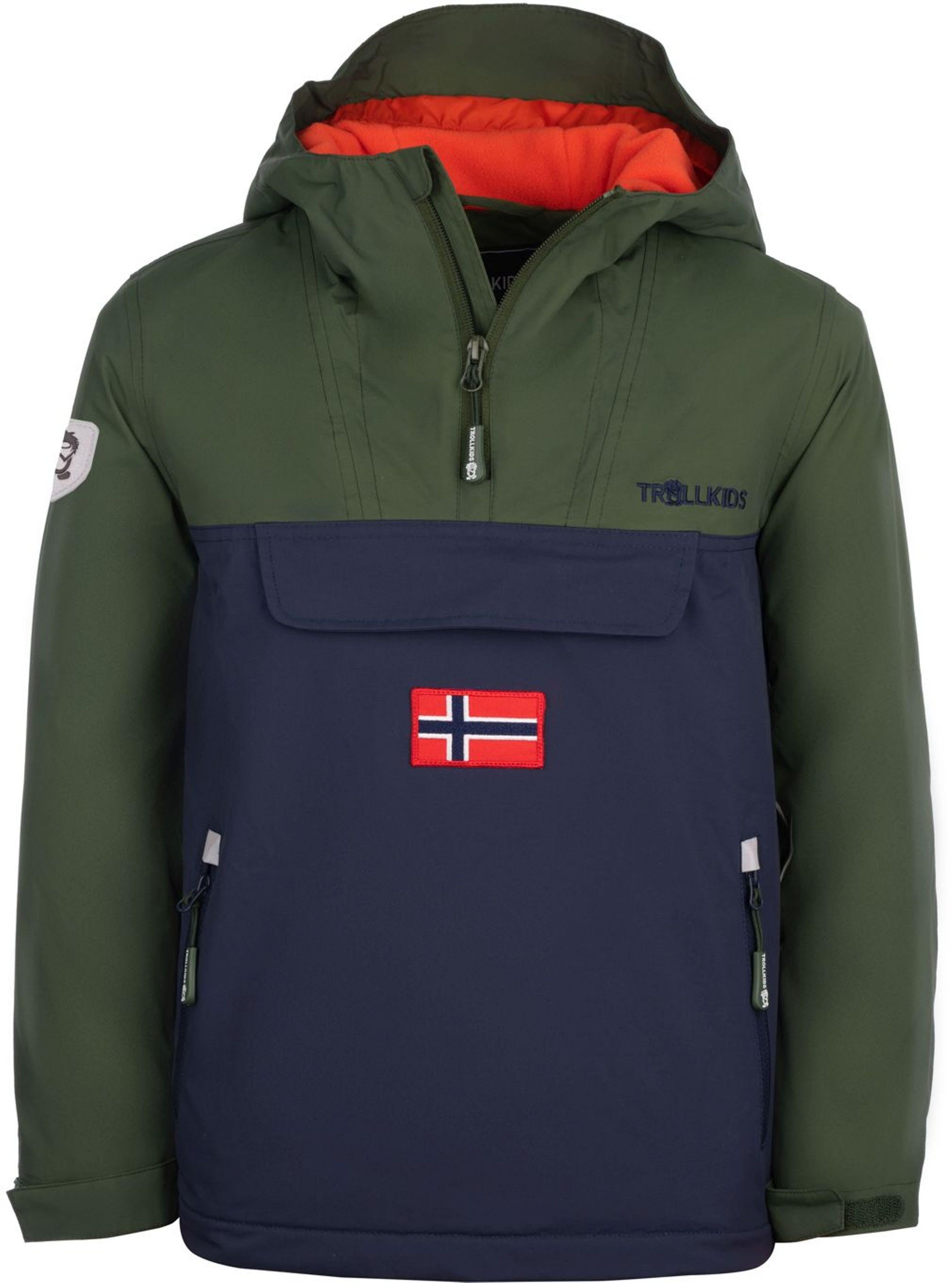 Trollkids Kirkenes Anorak Forest Green/Navy