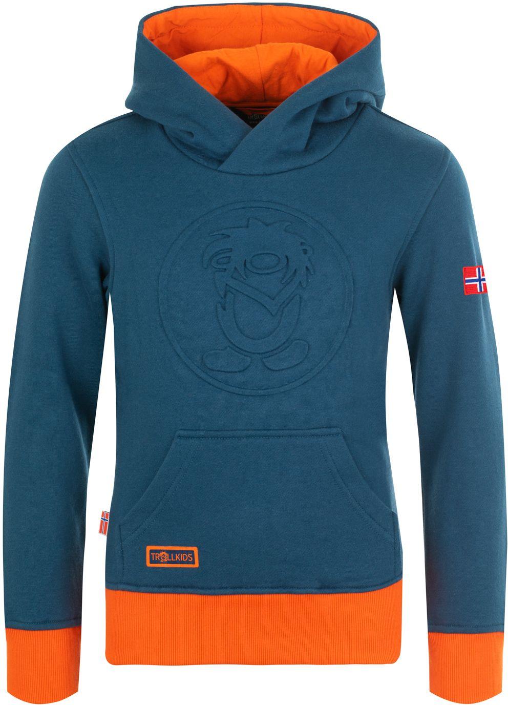 Trollkids Lillehammer Sweater mystic blue/orange