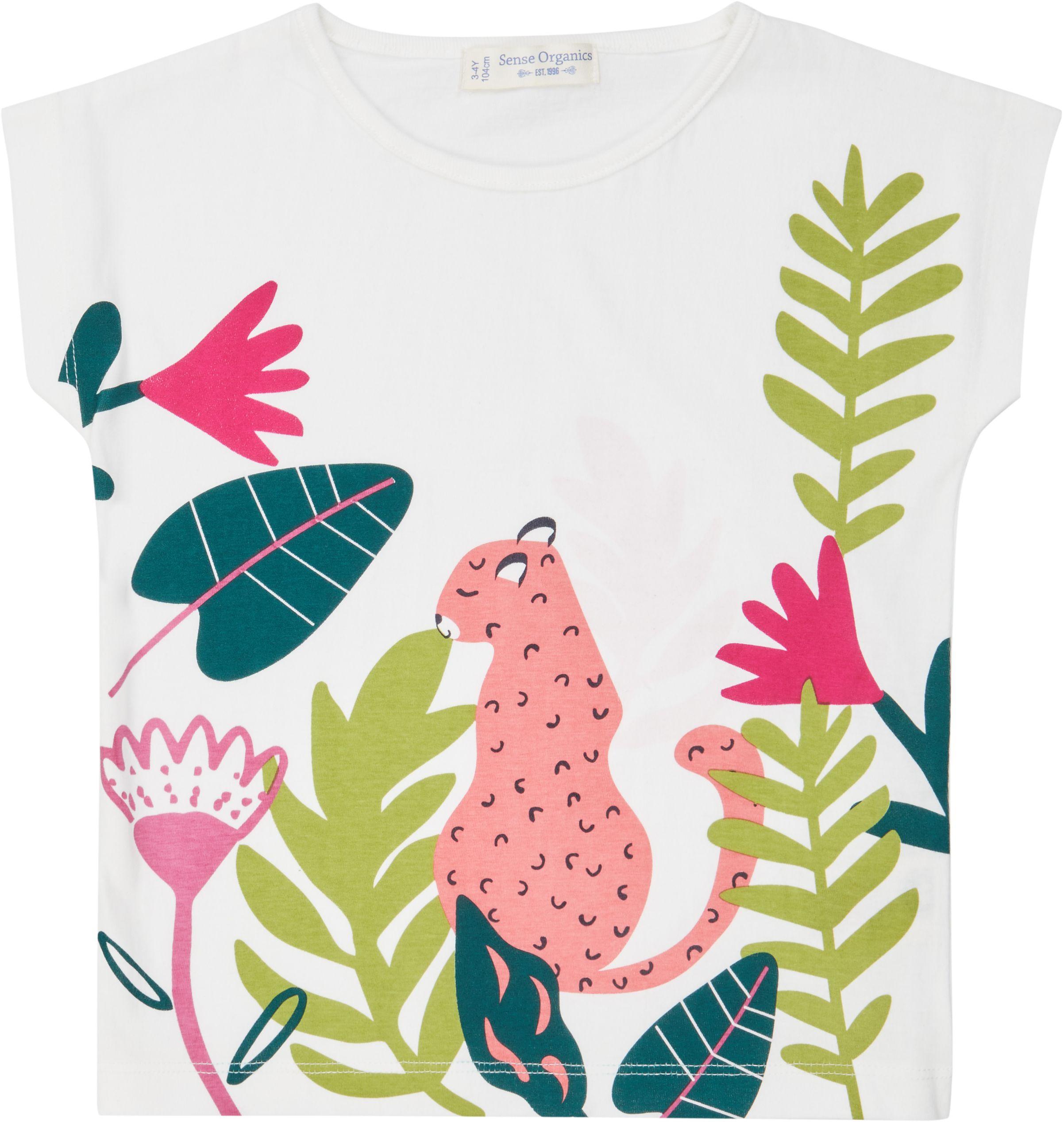 Sense Organic DORA Shirt Kurzarm White Leopard
