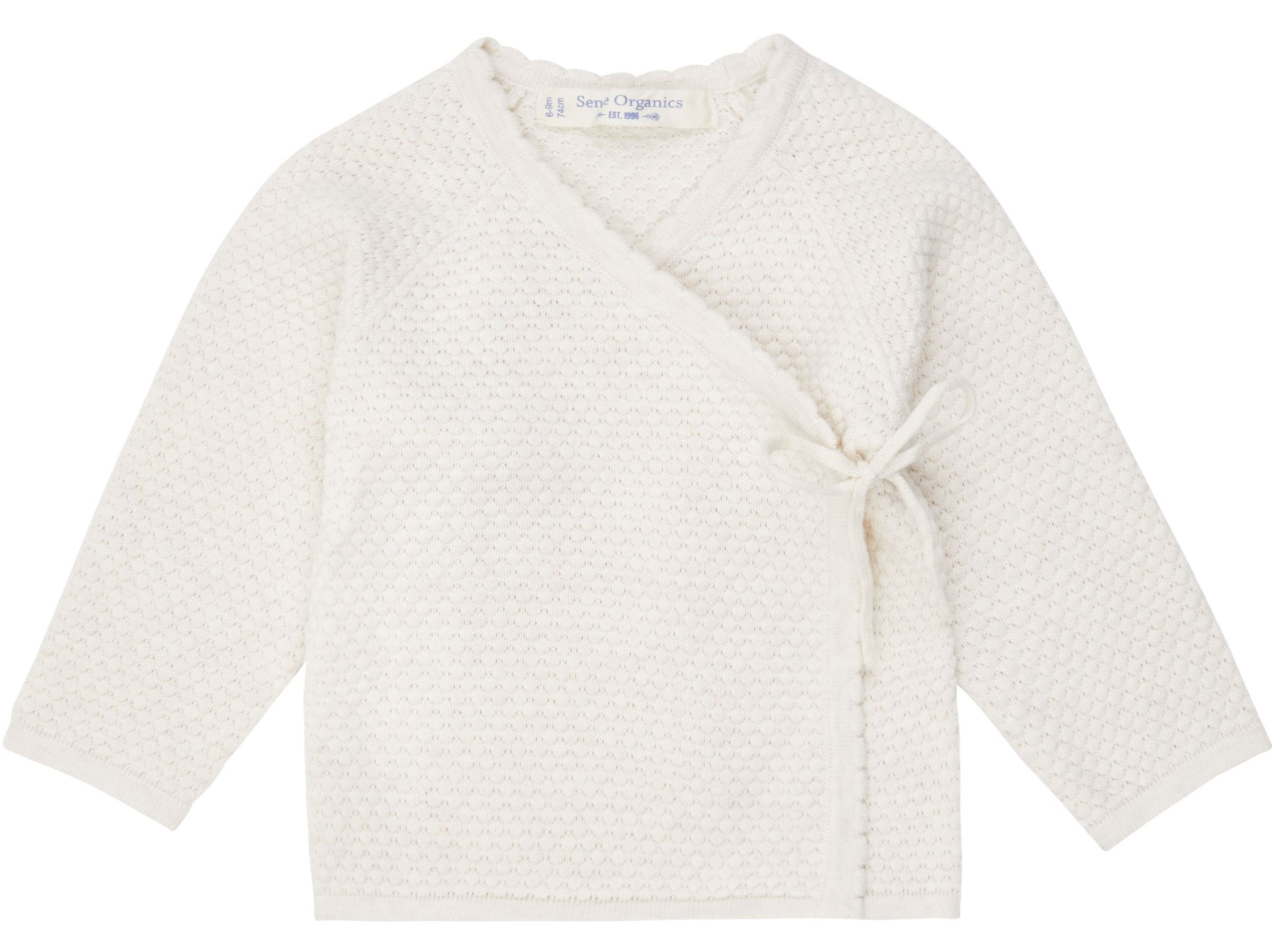 Sense Organic P. PICASSO Knitted Baby Wrap Jacket Ivory