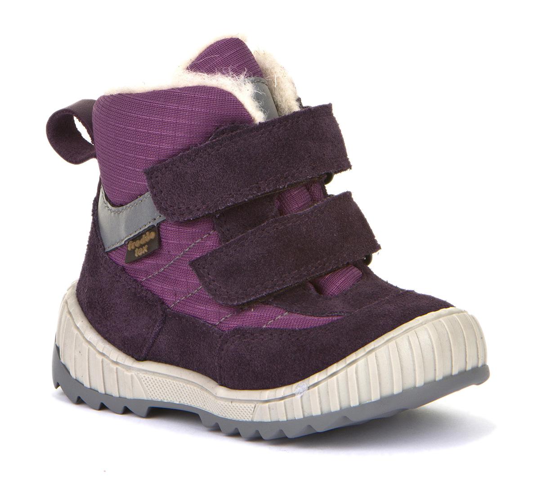 Froddo Tex Winterboot Lammwolle Doppelklett Purple