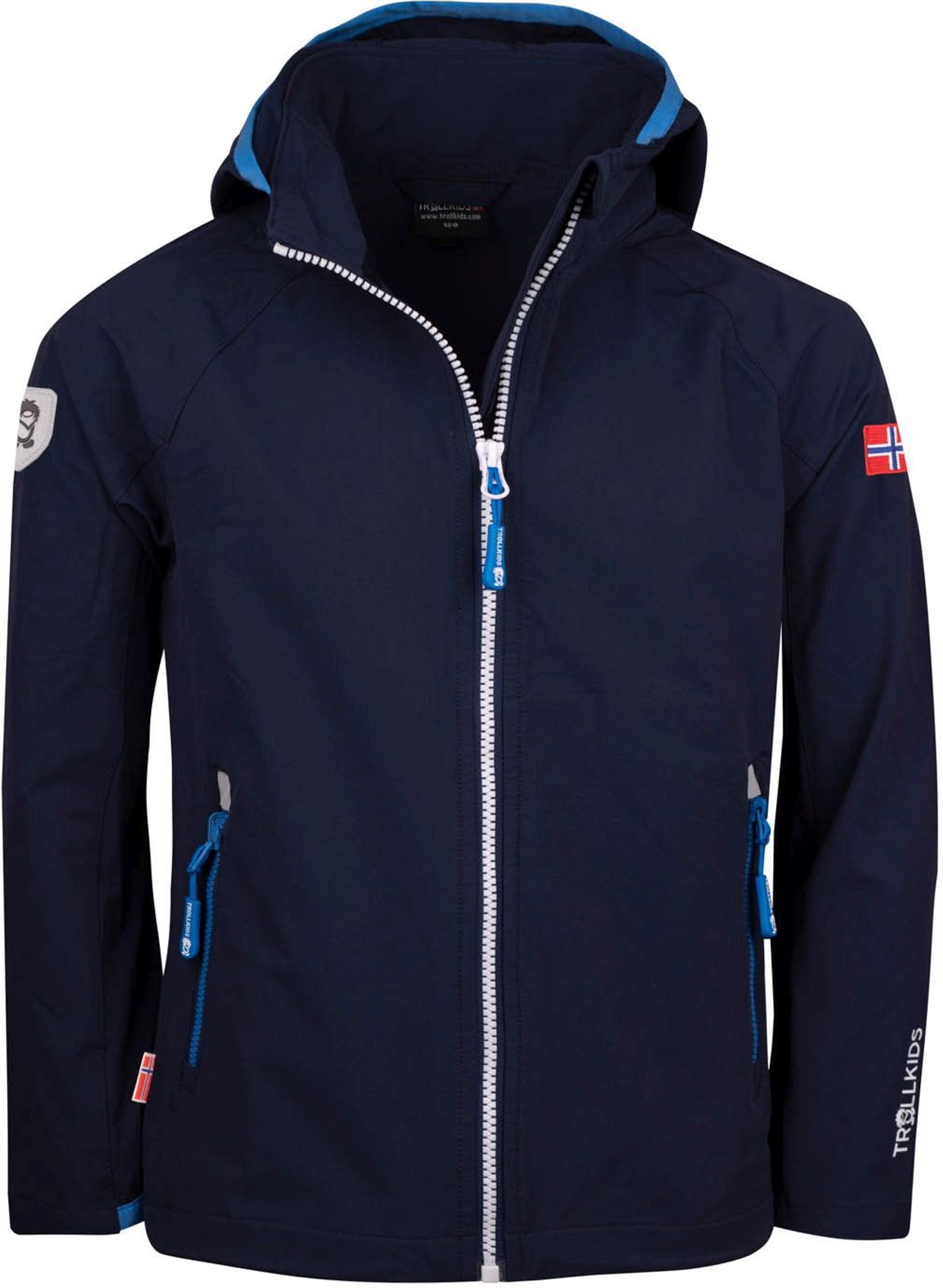 Trollkids Kvalvika Jacket navy/white/med blue
