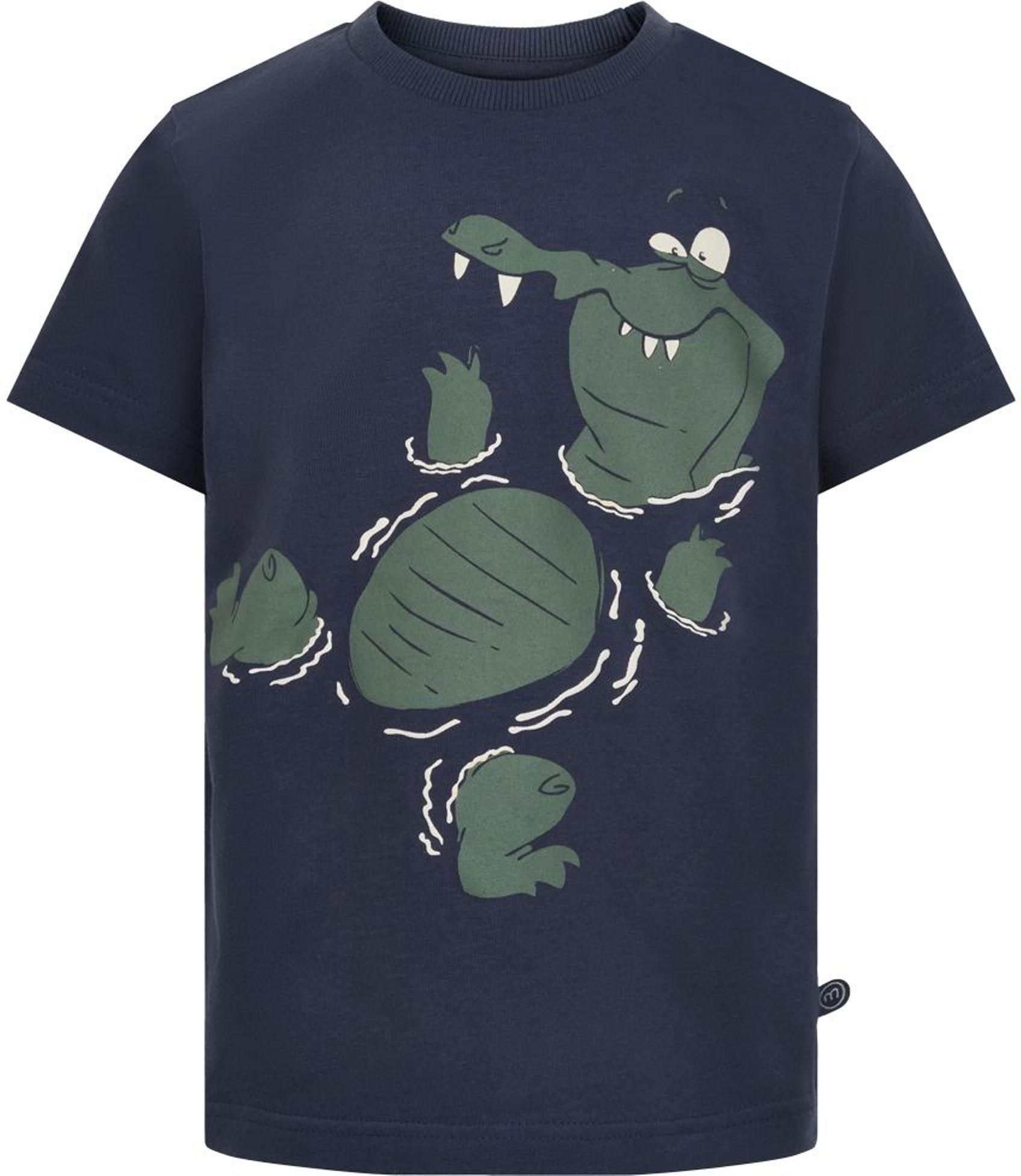 Minymo Boy Kurzarmshirt Krokodil blue nights