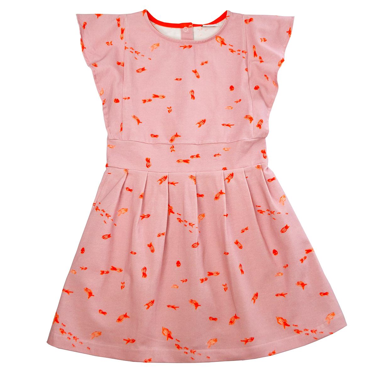 Baba Kidswear Kleid Ruffle Fisch rosa
