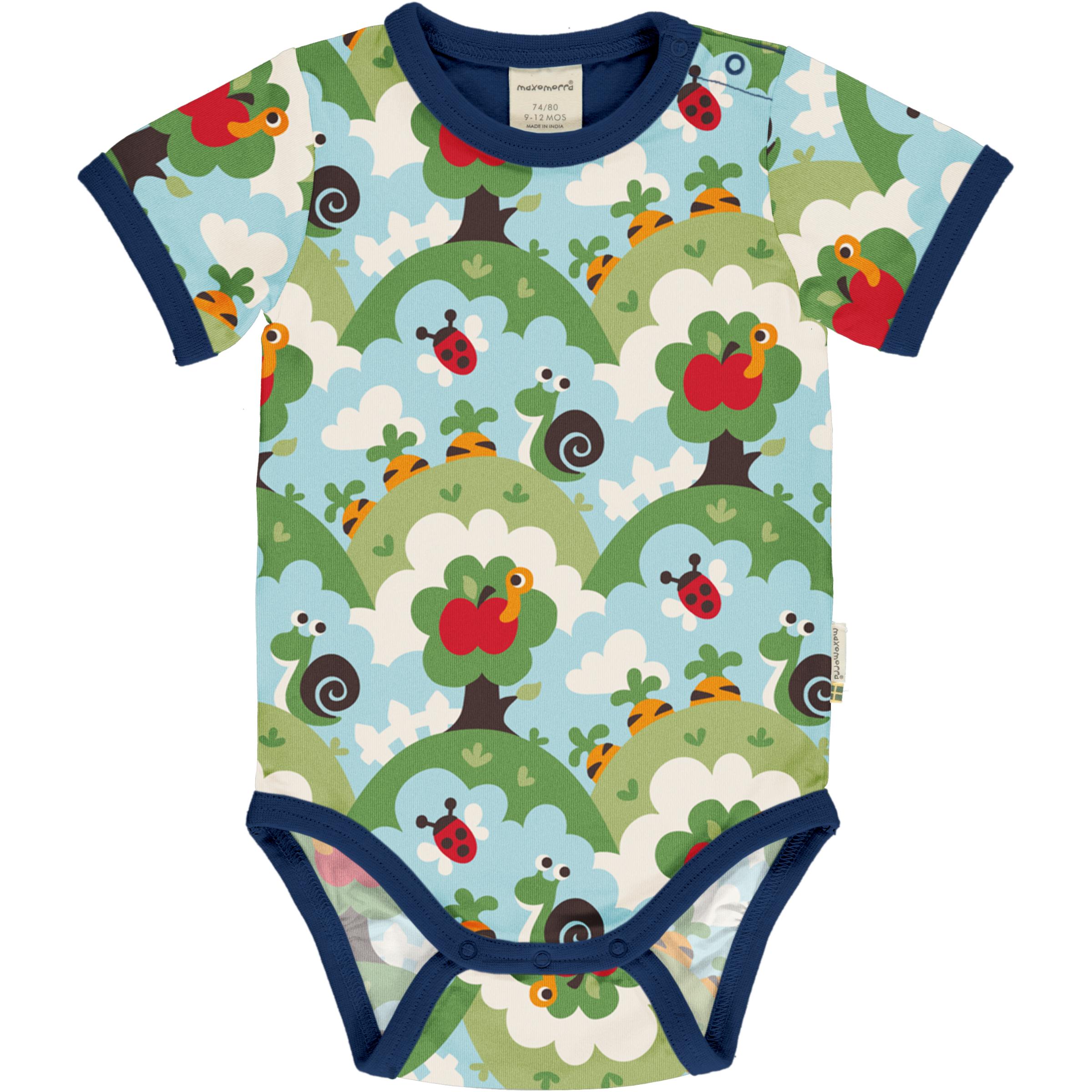 Maxomorra Baby Body kurzarm GARDEN 086/092