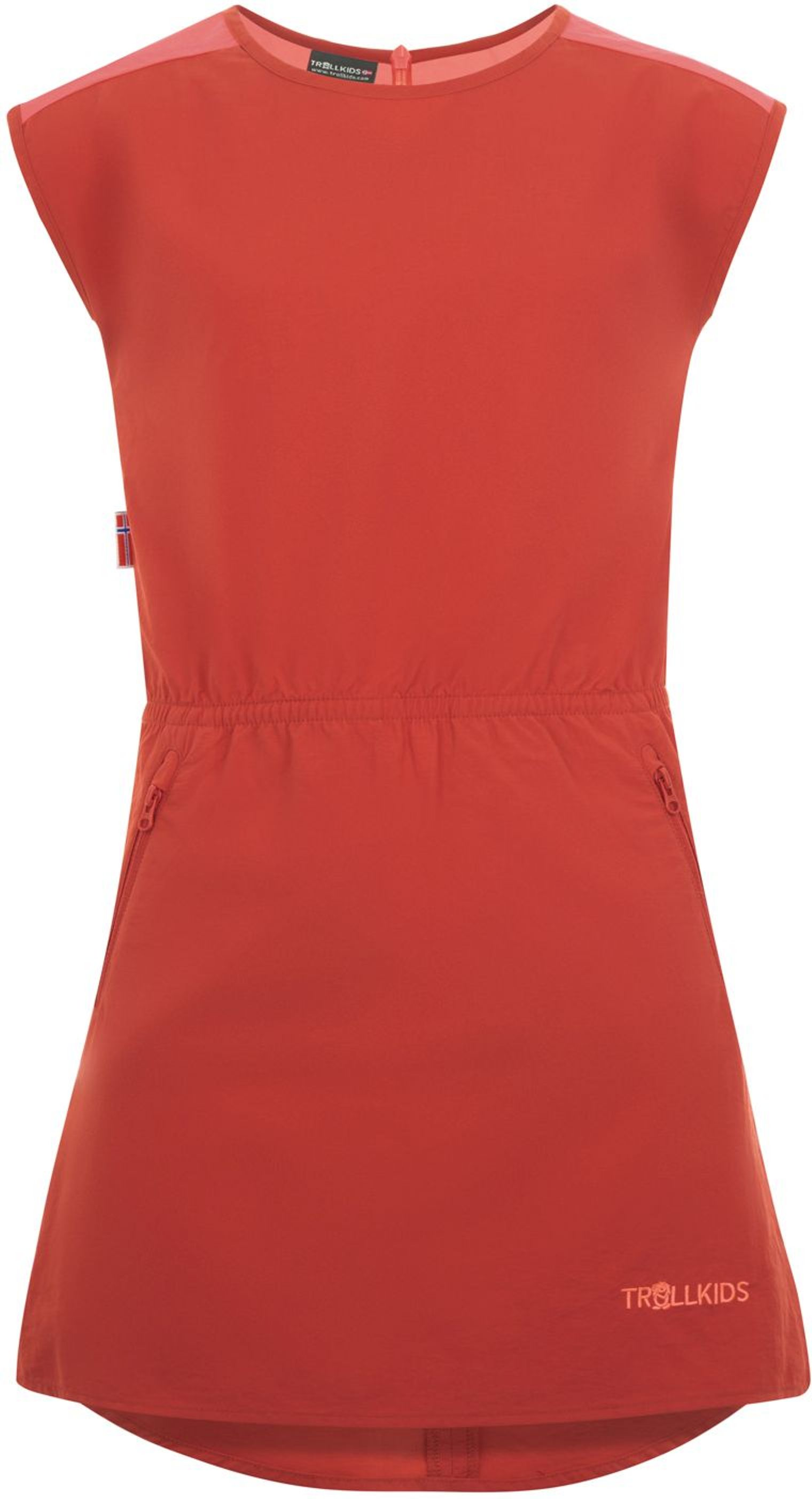 Trollkids Girls Arendal Dress mystic red/coral