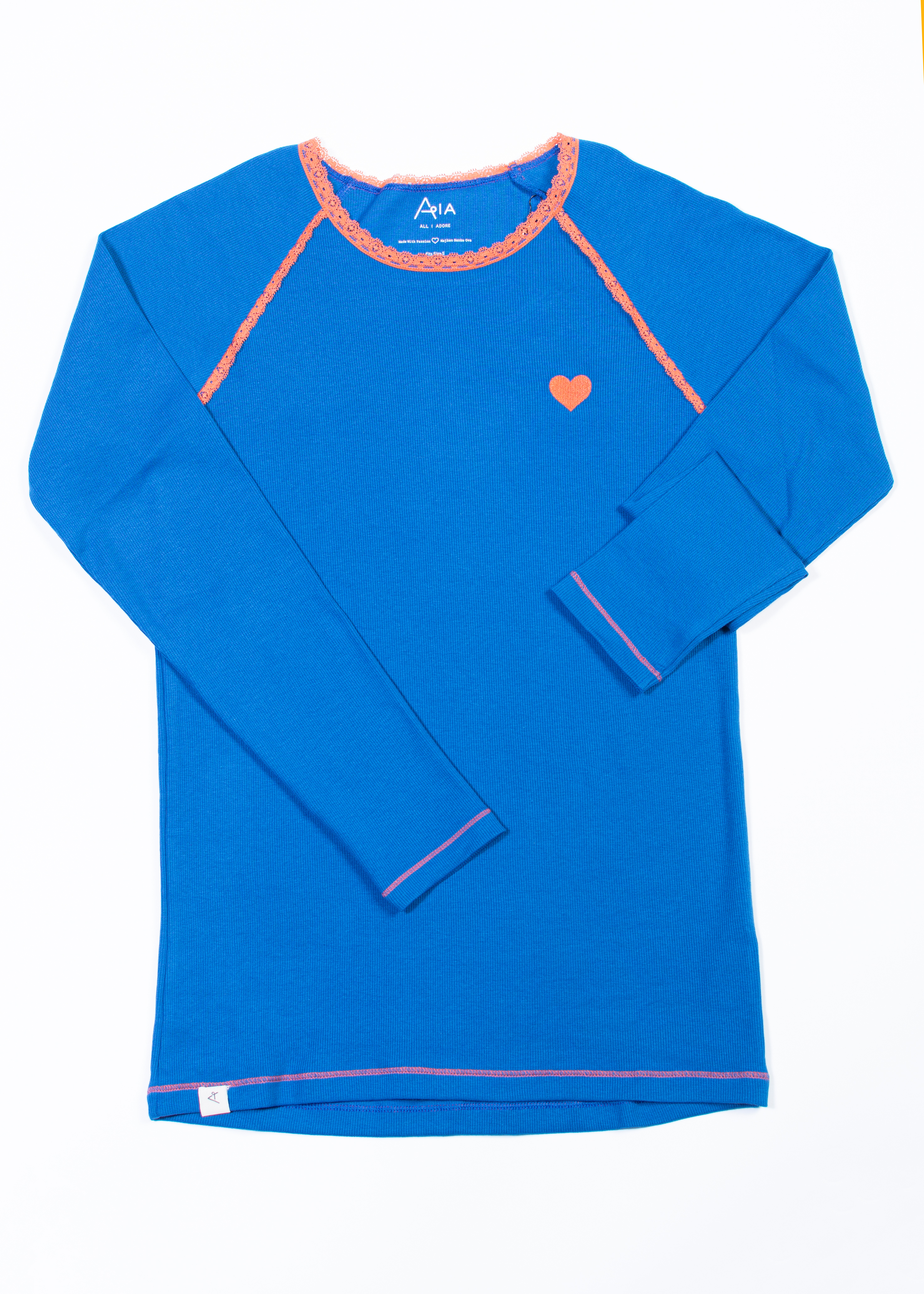 AIA by AlbaBaby Damen Langarmshirt My All Time Favorite Sleeve blue