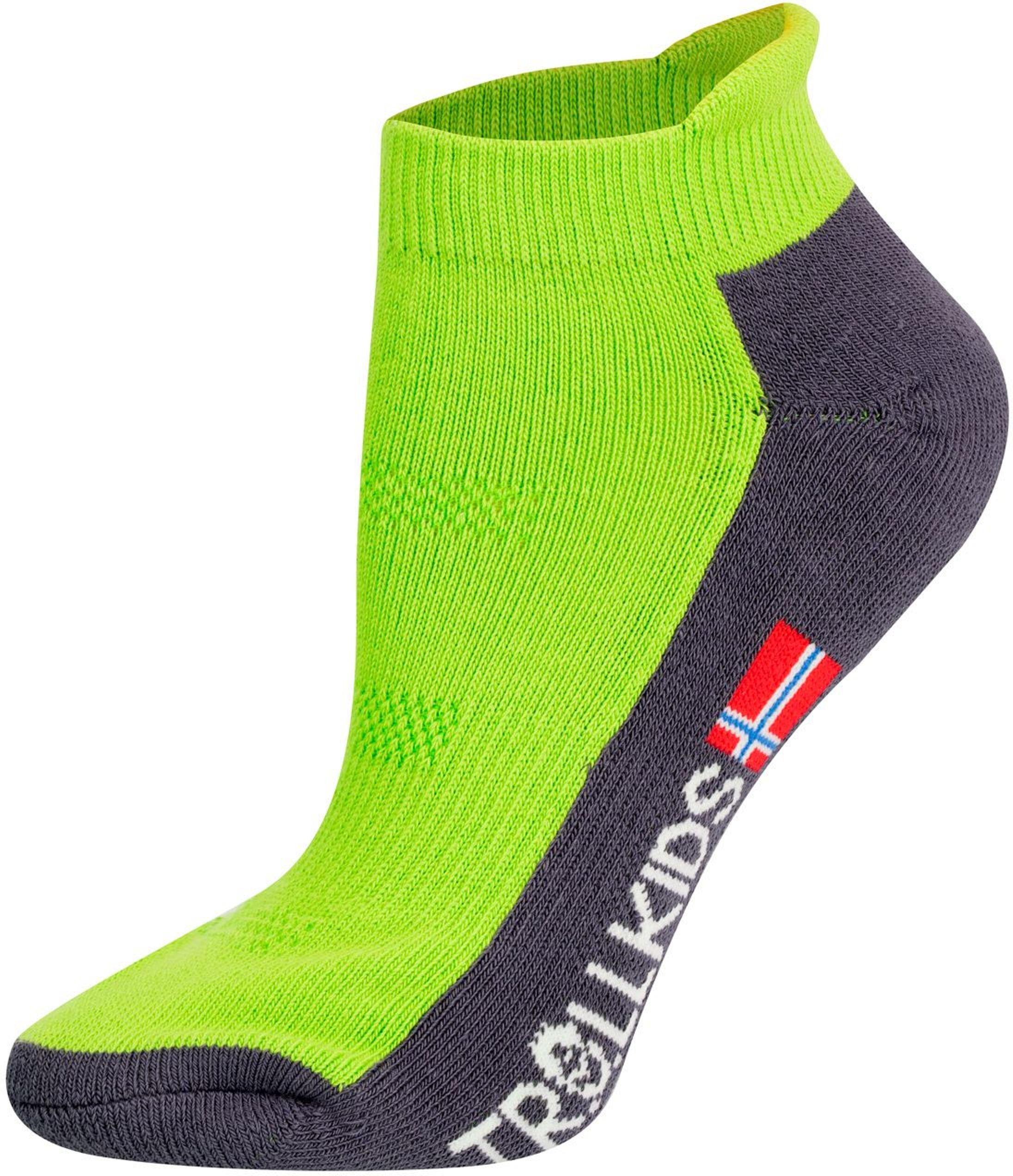 Trollkids Hiking Low Cut Socks II lime