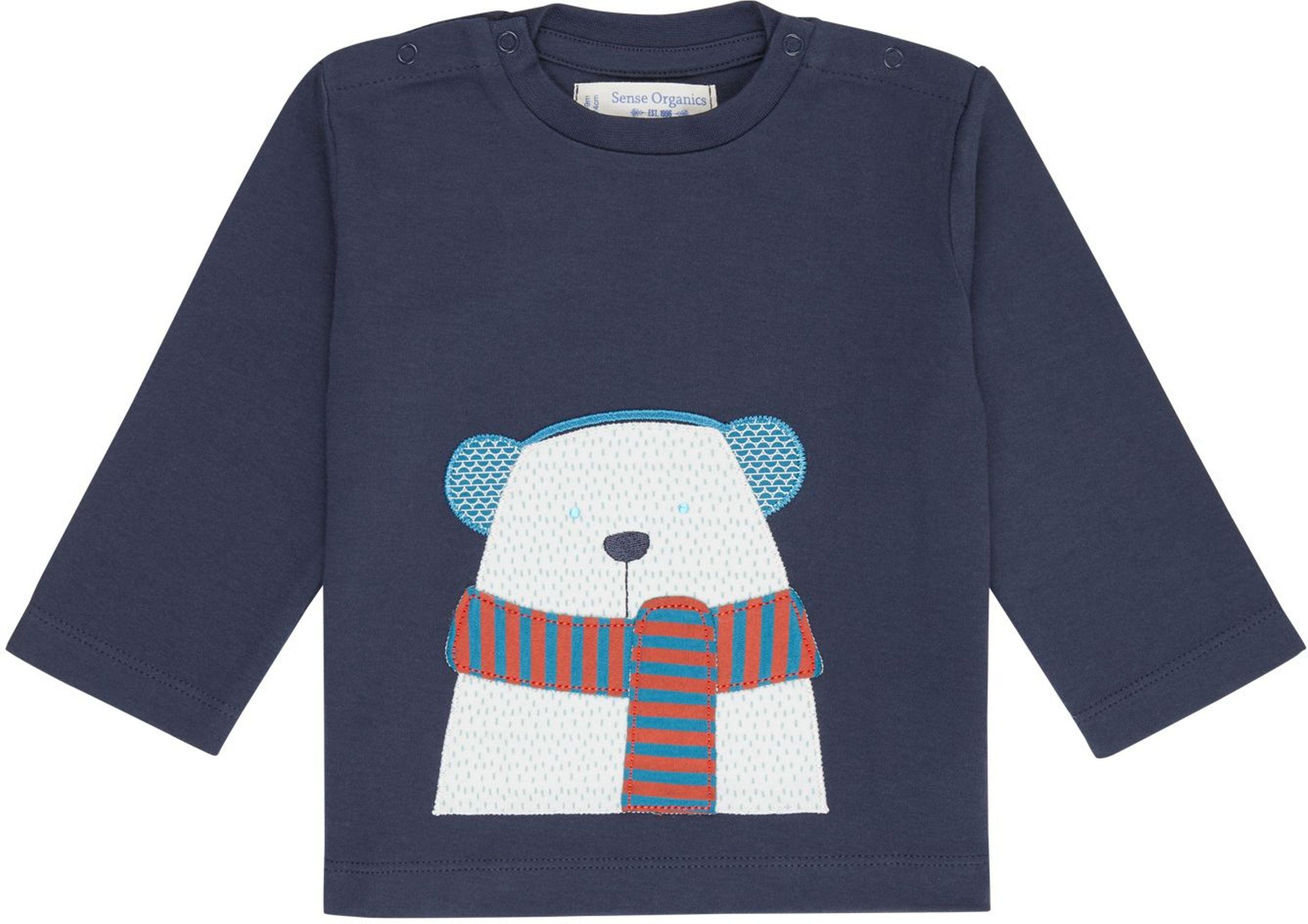 Sense Organic ELAN Baby Shirt L/S navy/polar bear