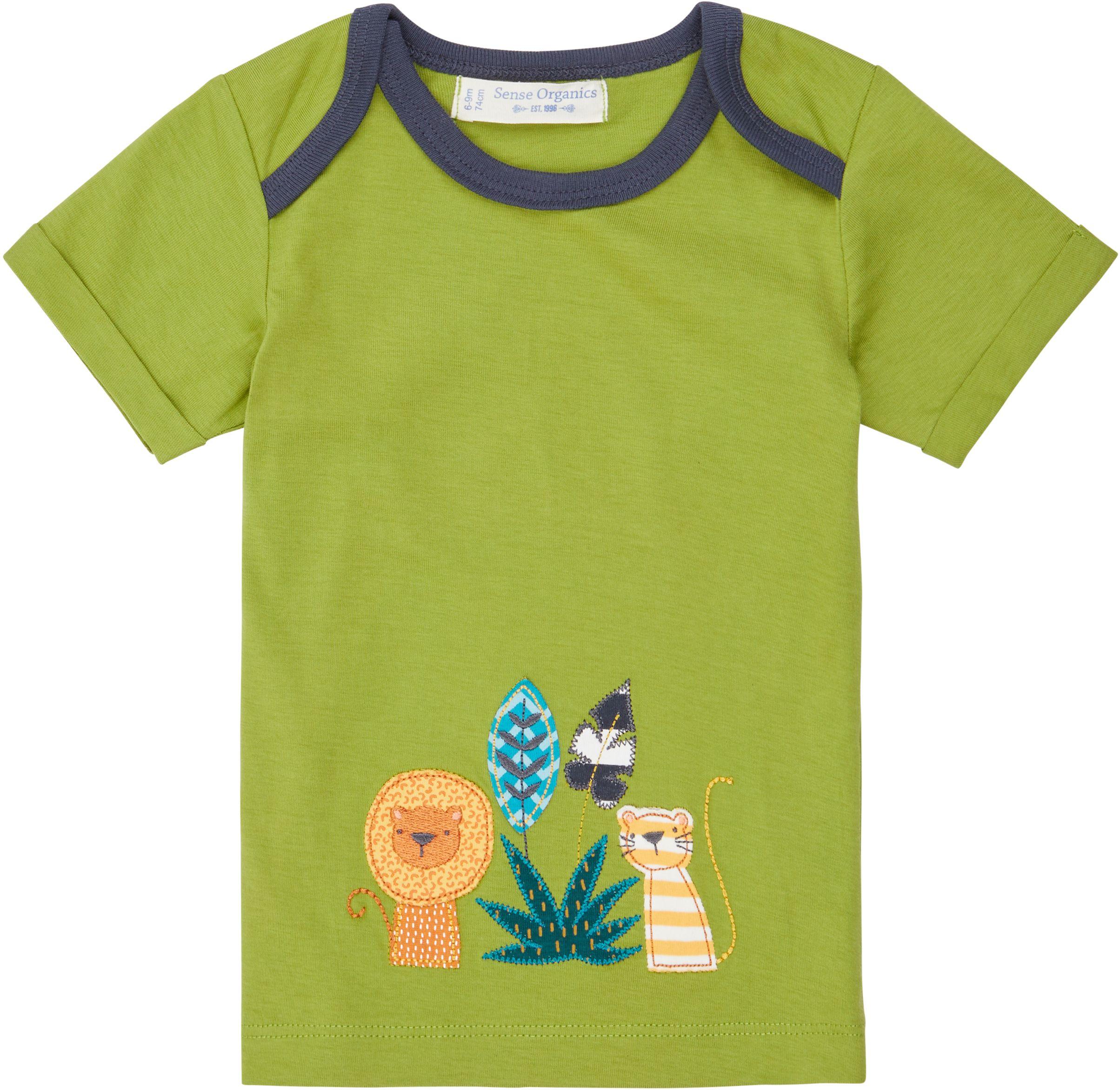 Sense Organic TOBI Baby Shirt Kurzarm Green Lion