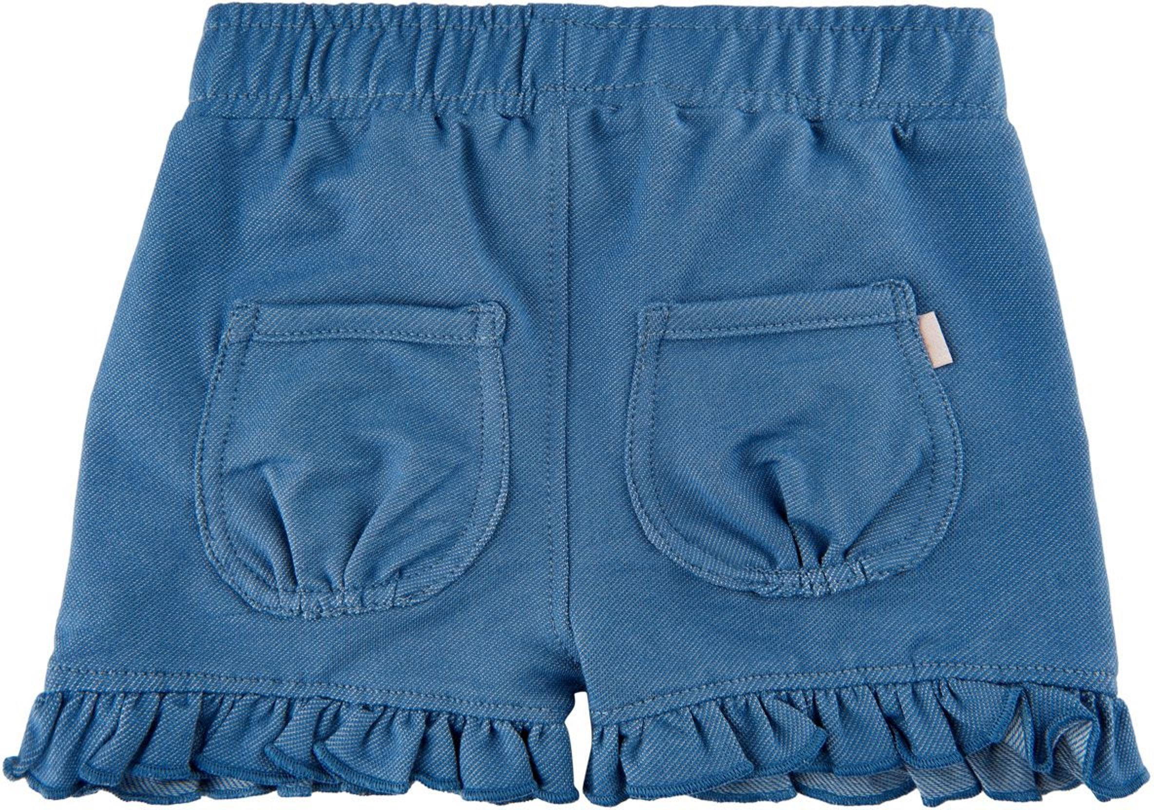 Minymo Baby Girl Shorts medium blue denim