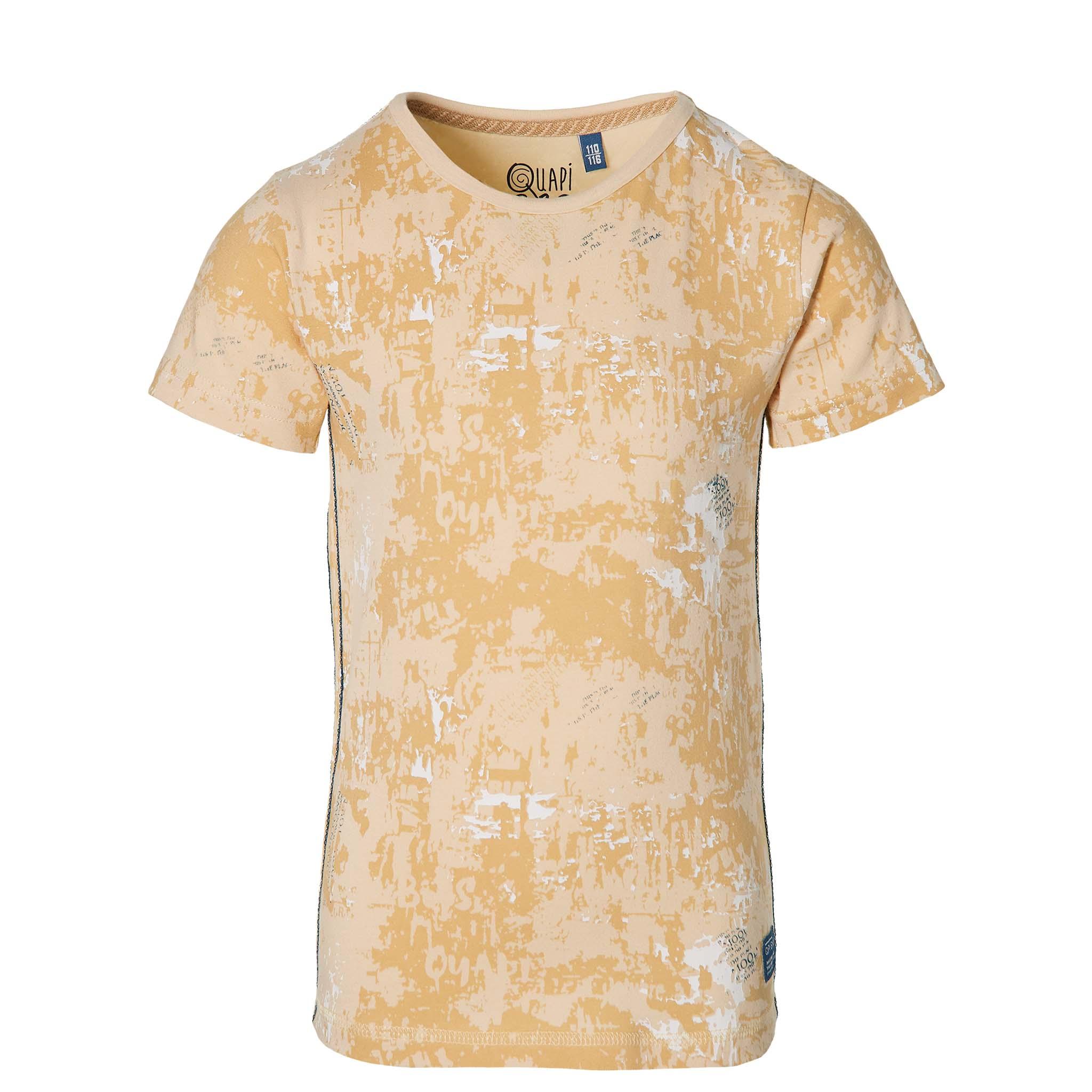 Quapi Kurzarmshirt sand spletter