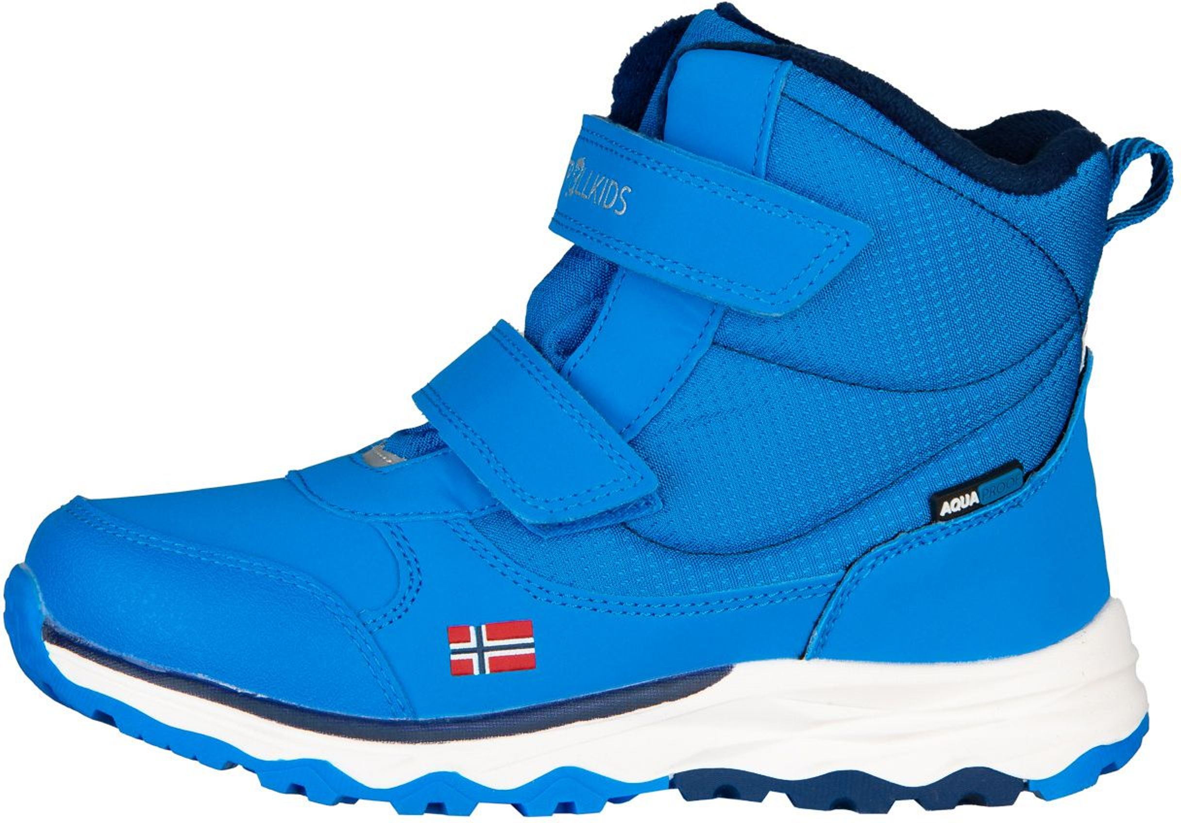 Trollkids Hafjell Winter Boots Azure Blue/Navy