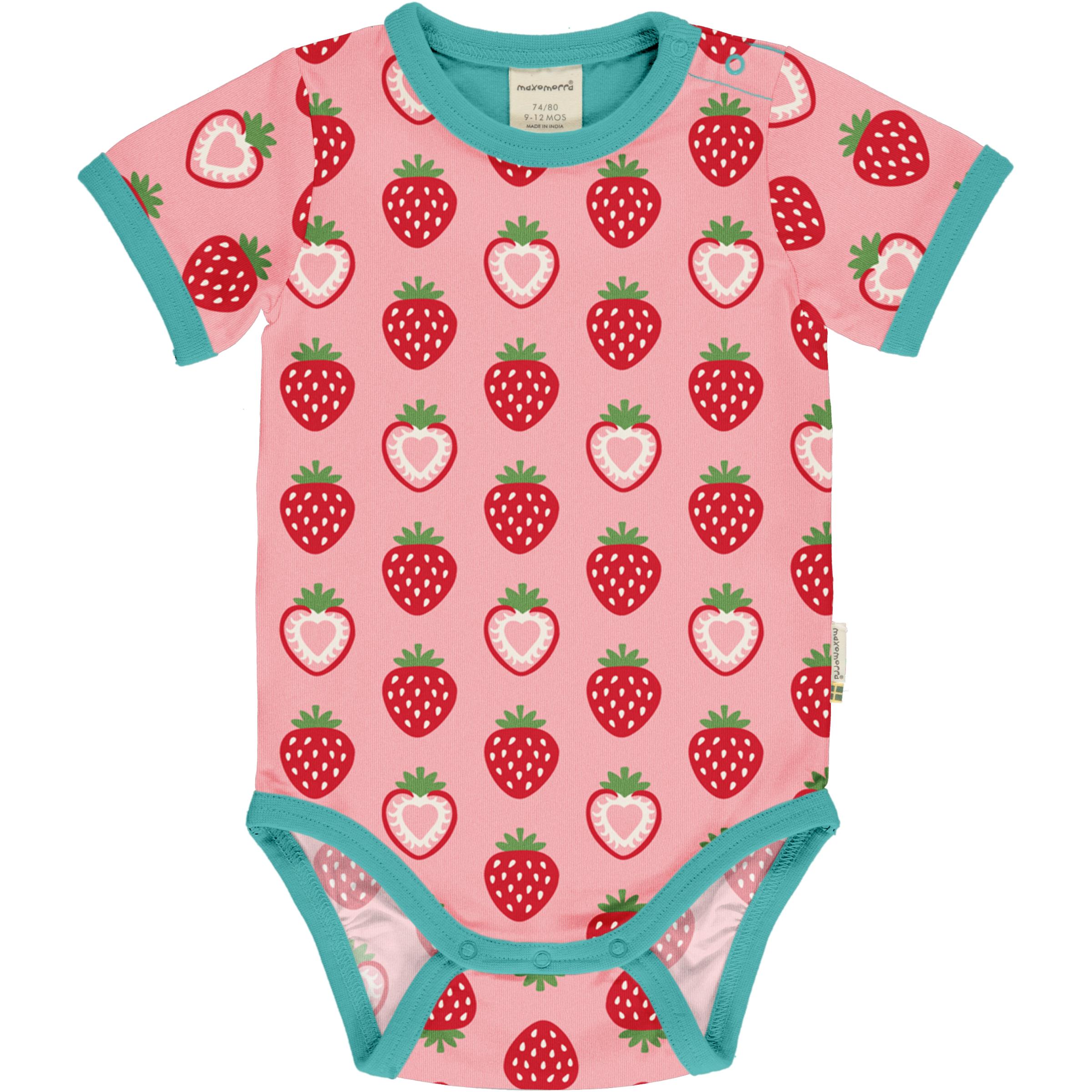 Maxomorra Baby Body kurzarm STRAWBERRY 062/068