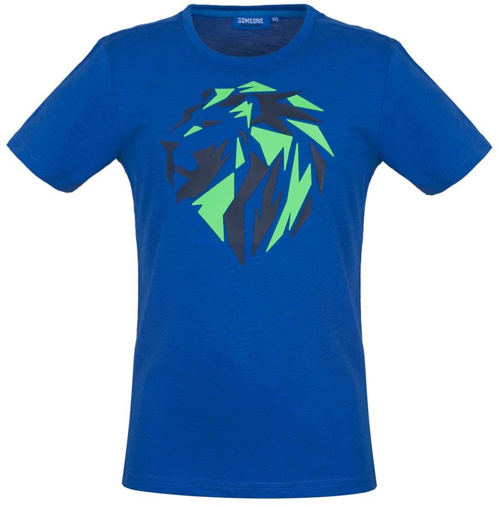 Someone Boy T-Shirt Löwe blau