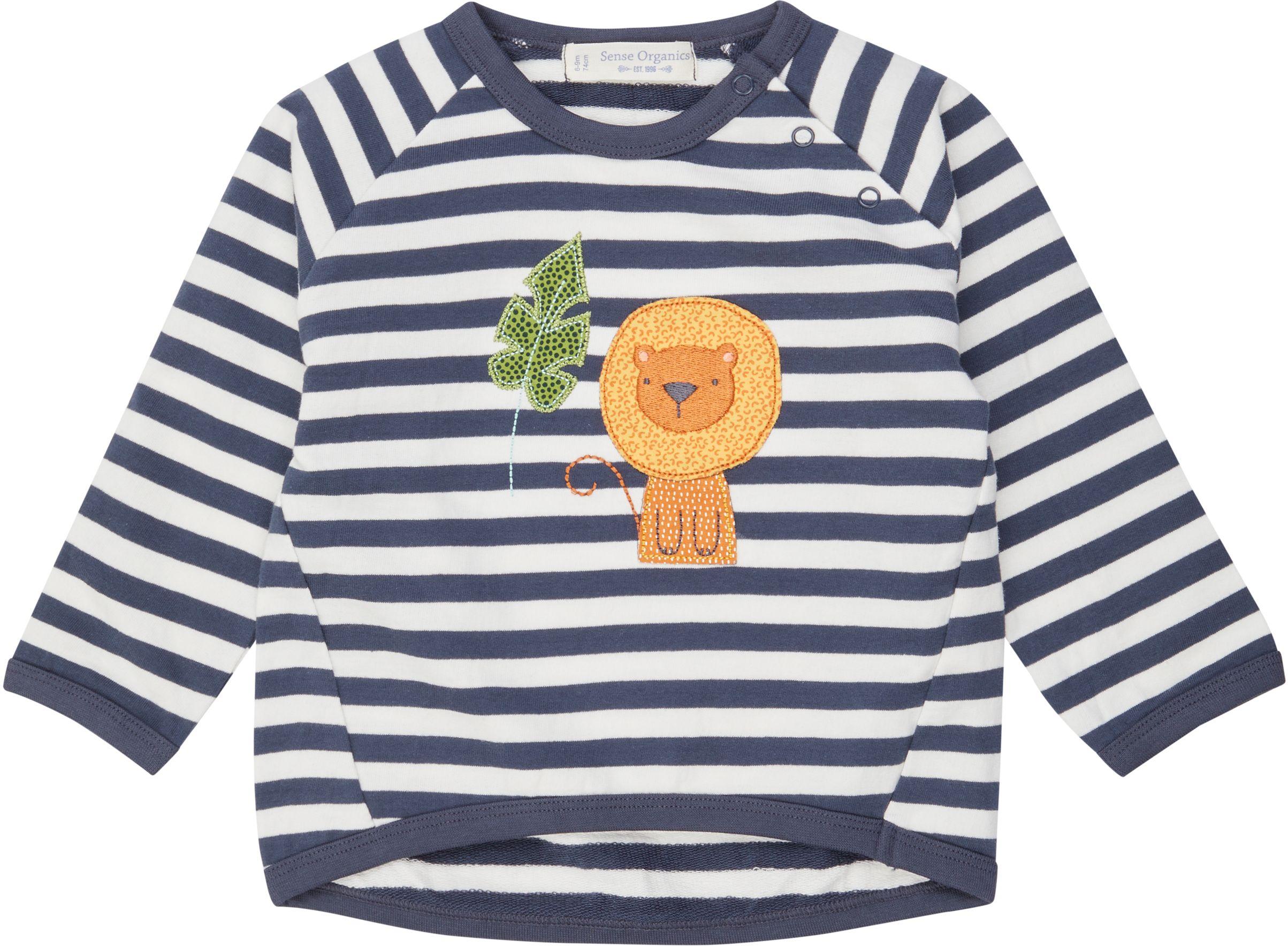 Sense Organic ETU Baby Sweater Navy Stripes