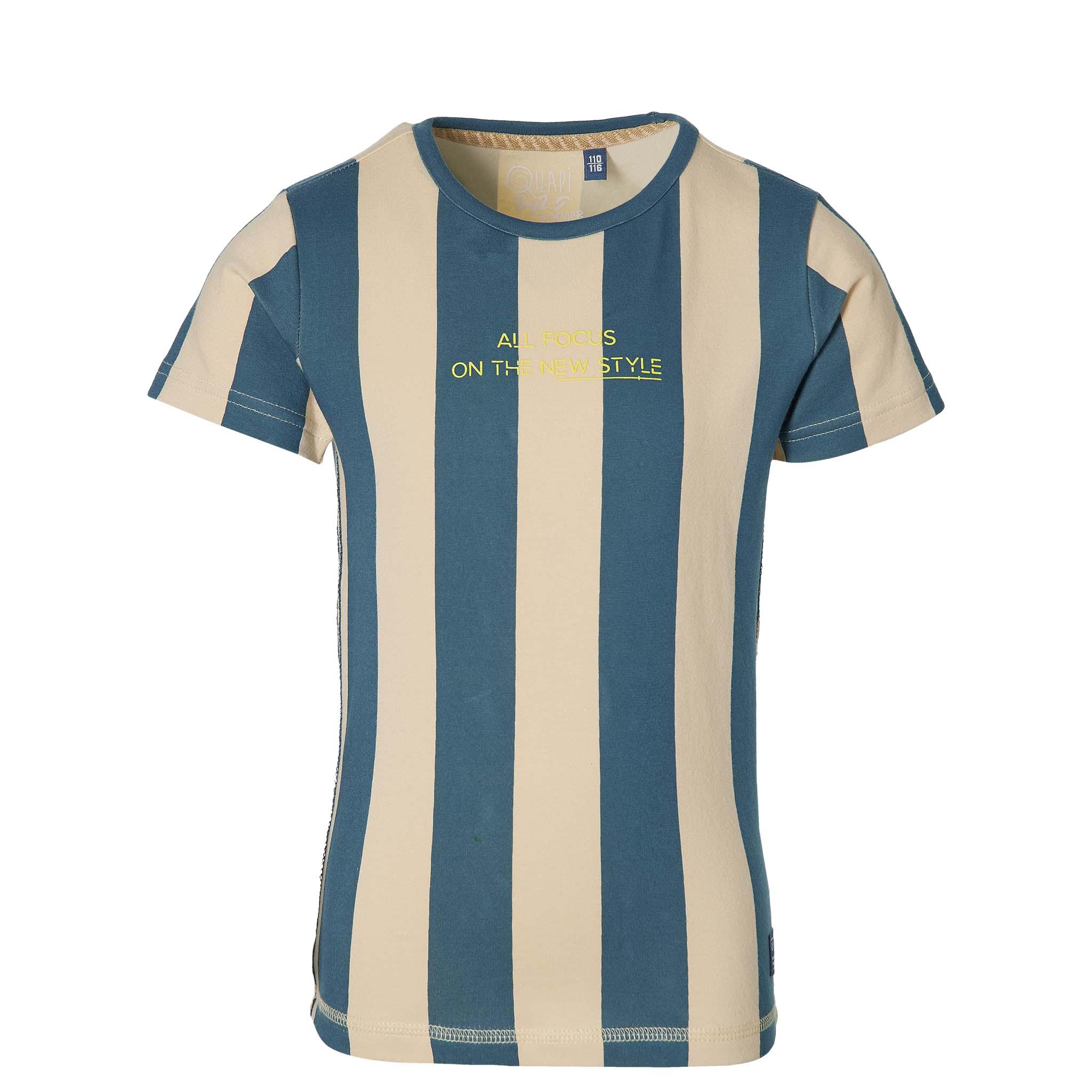 Quapi Kurzarmshirt sport blue stripe
