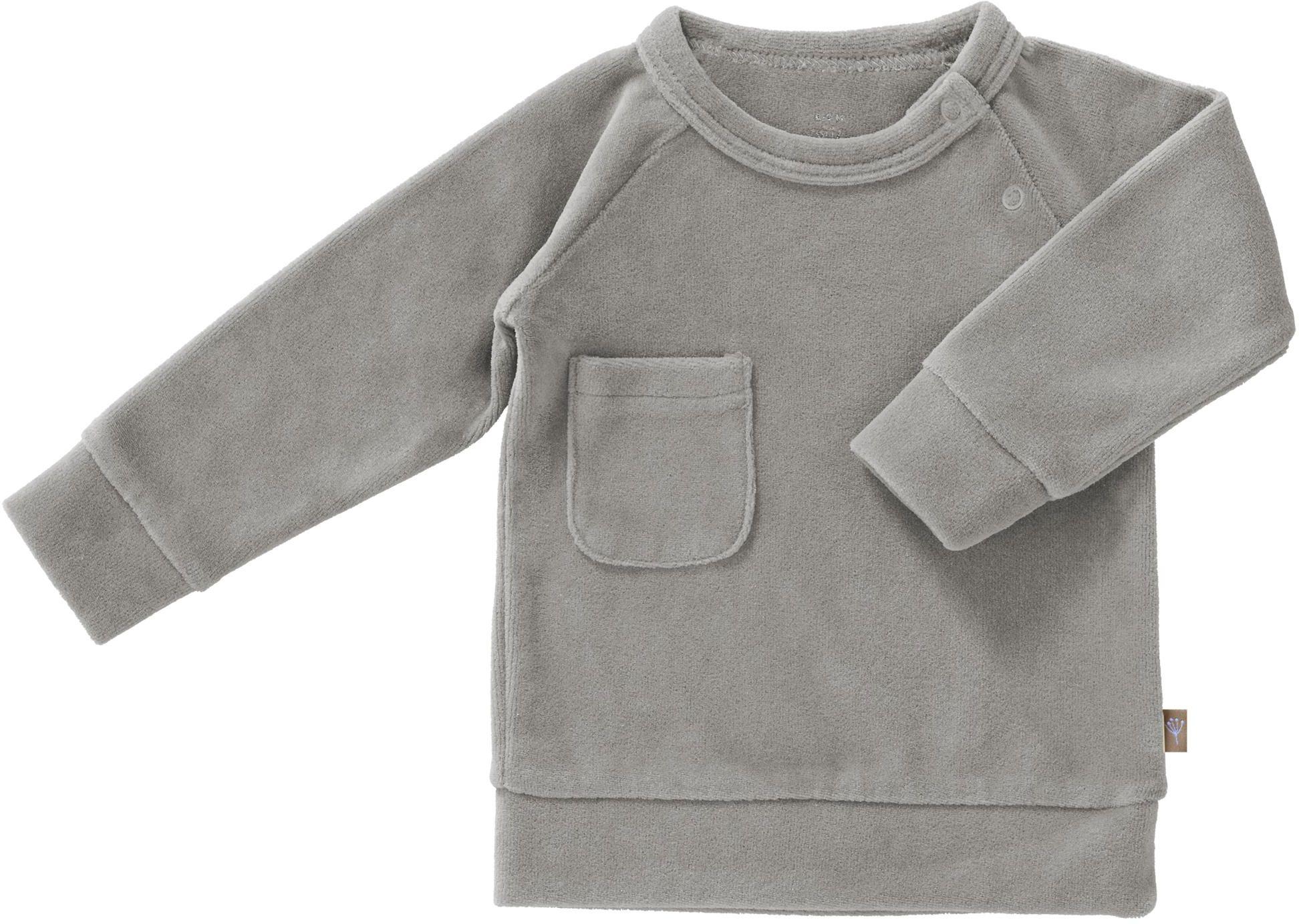 Fresk Baby Sweater Velour grey